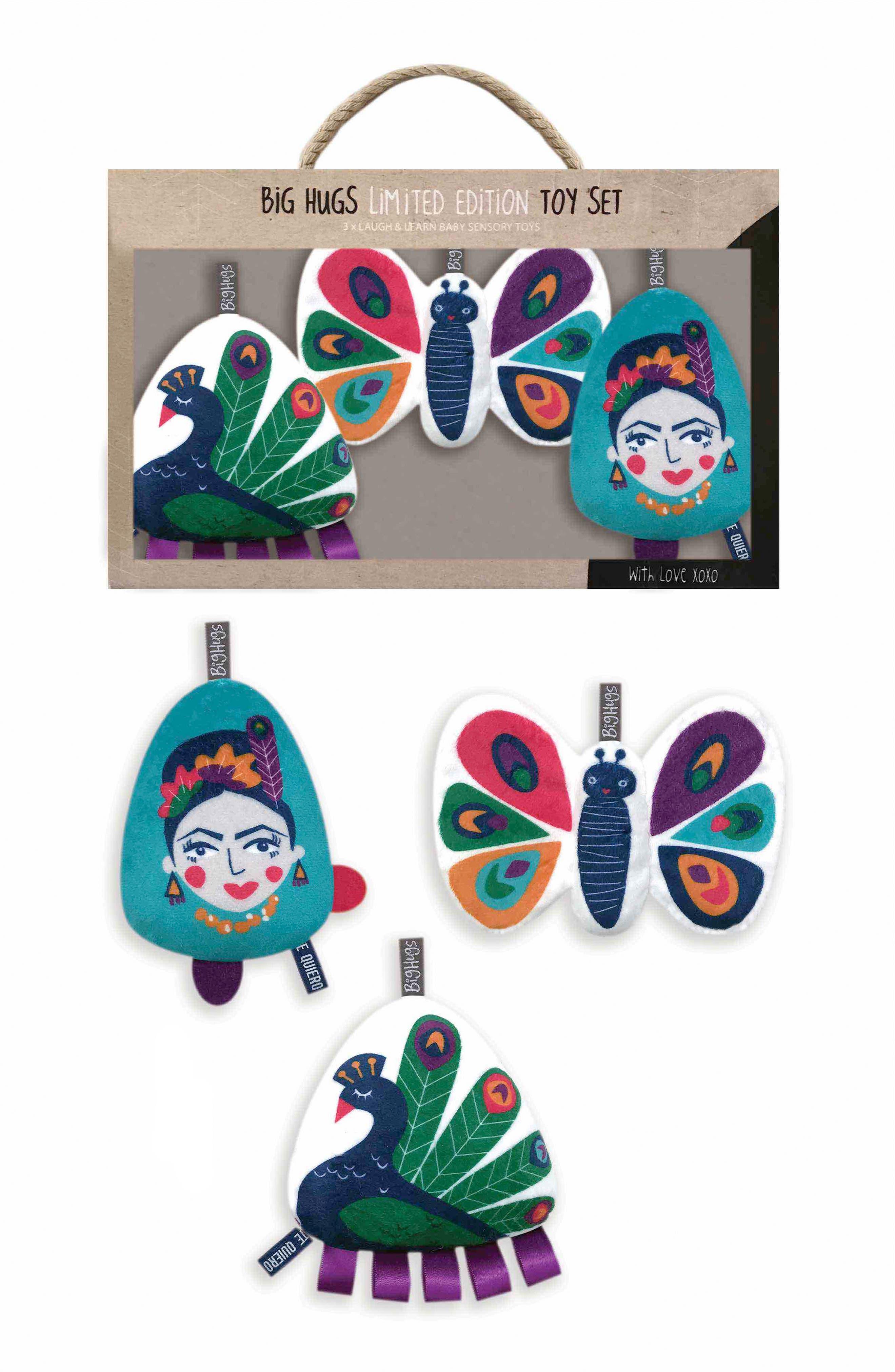 Peacock Paradise Activity Plush Toy Set,                         Main,                         color, GREEN/ BLUE/ PURPLE