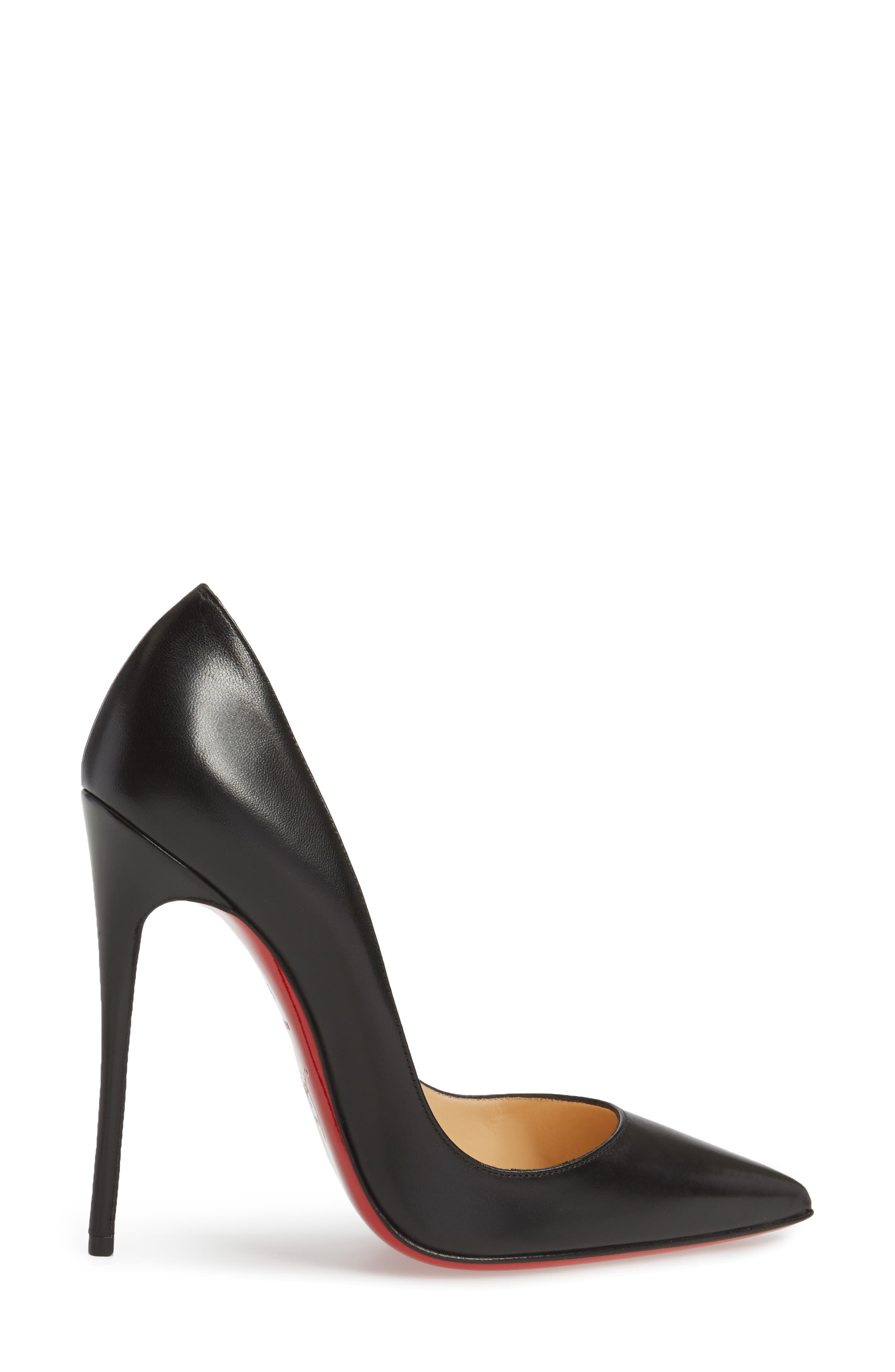 'So Kate' Pointy Toe Leather Pump,                             Alternate thumbnail 3, color,                             001
