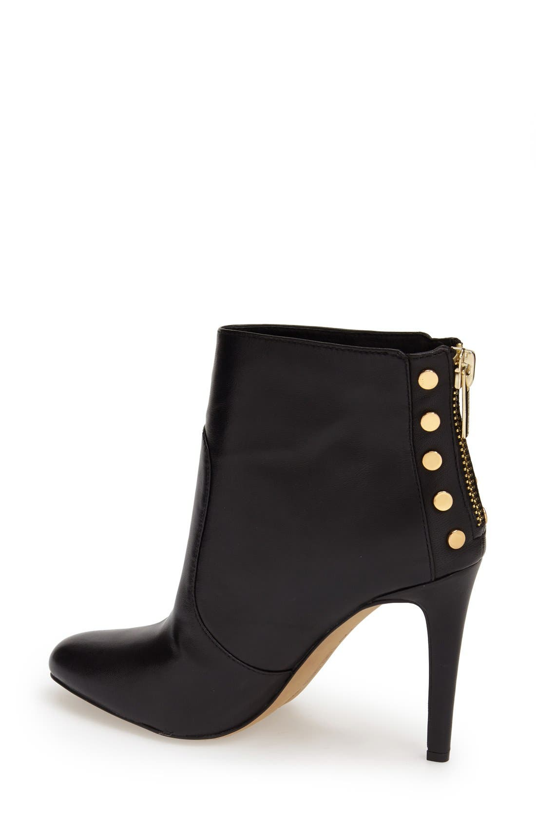 VINCE CAMUTO,                             'Bustell' Studded Bootie,                             Alternate thumbnail 4, color,                             001