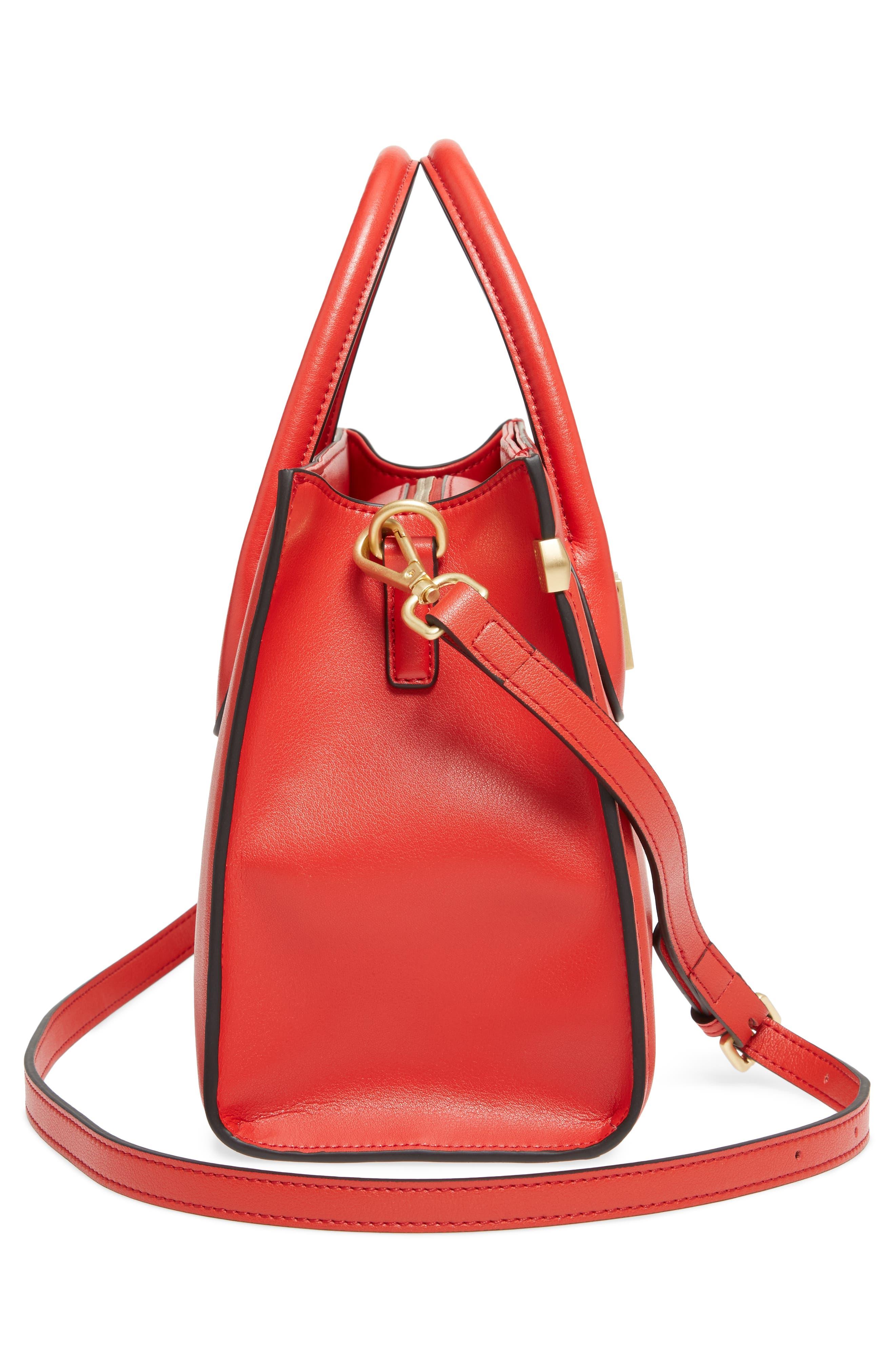 Céline Dion Octave Leather Satchel,                             Alternate thumbnail 5, color,                             600