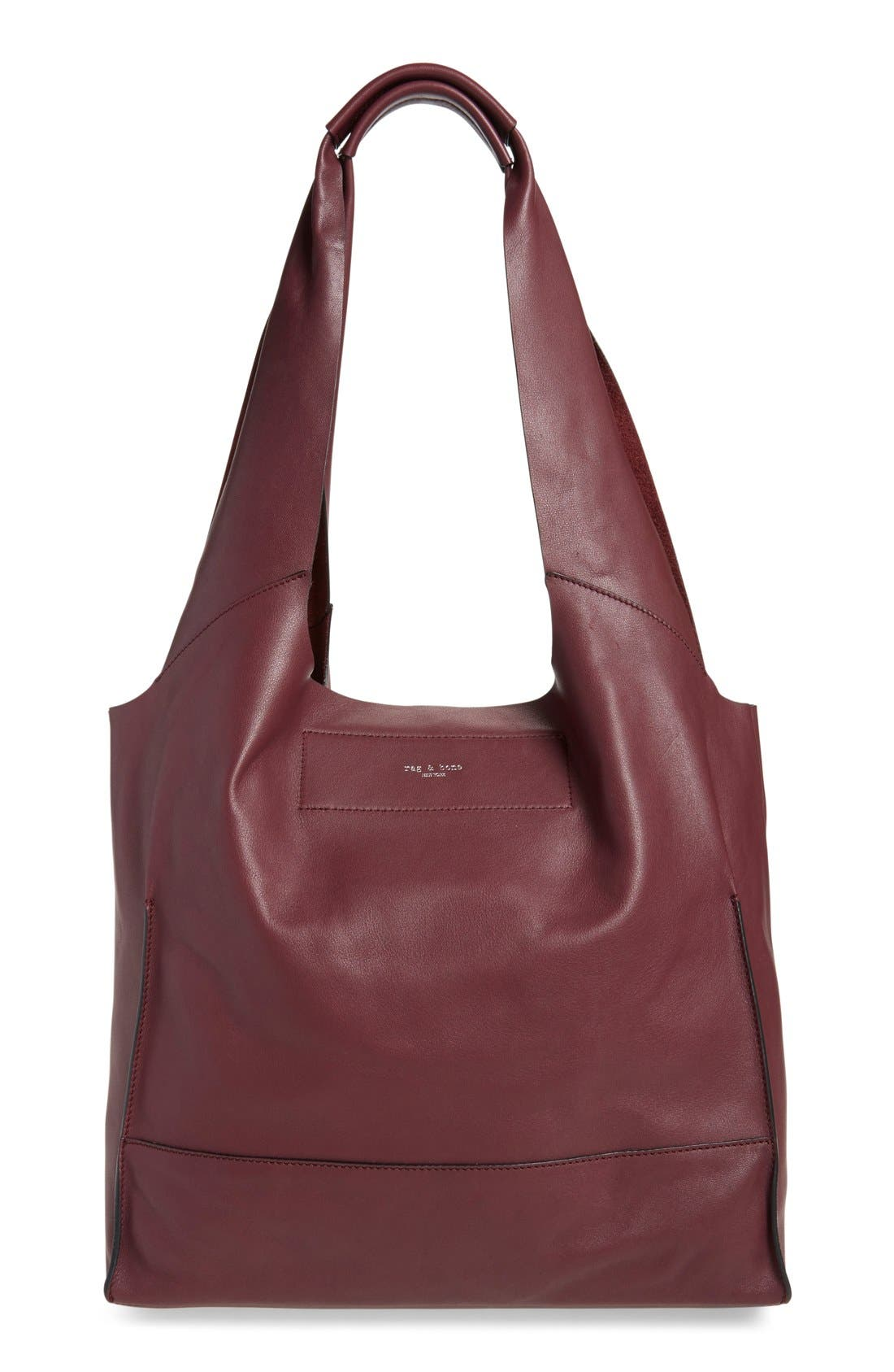 Walker Leather Tote,                             Main thumbnail 2, color,