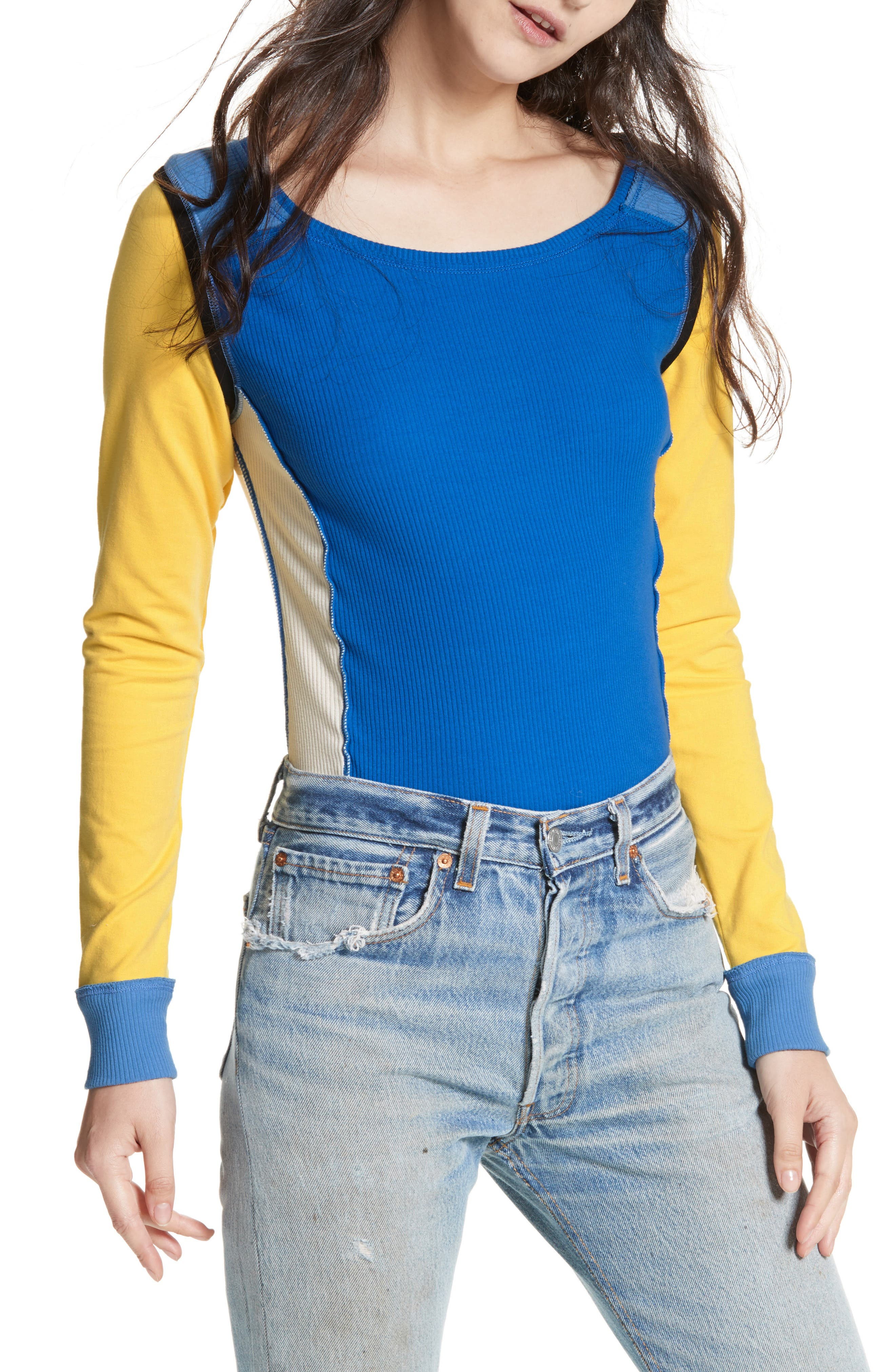 Fancy That Colorblock Tee,                             Main thumbnail 1, color,