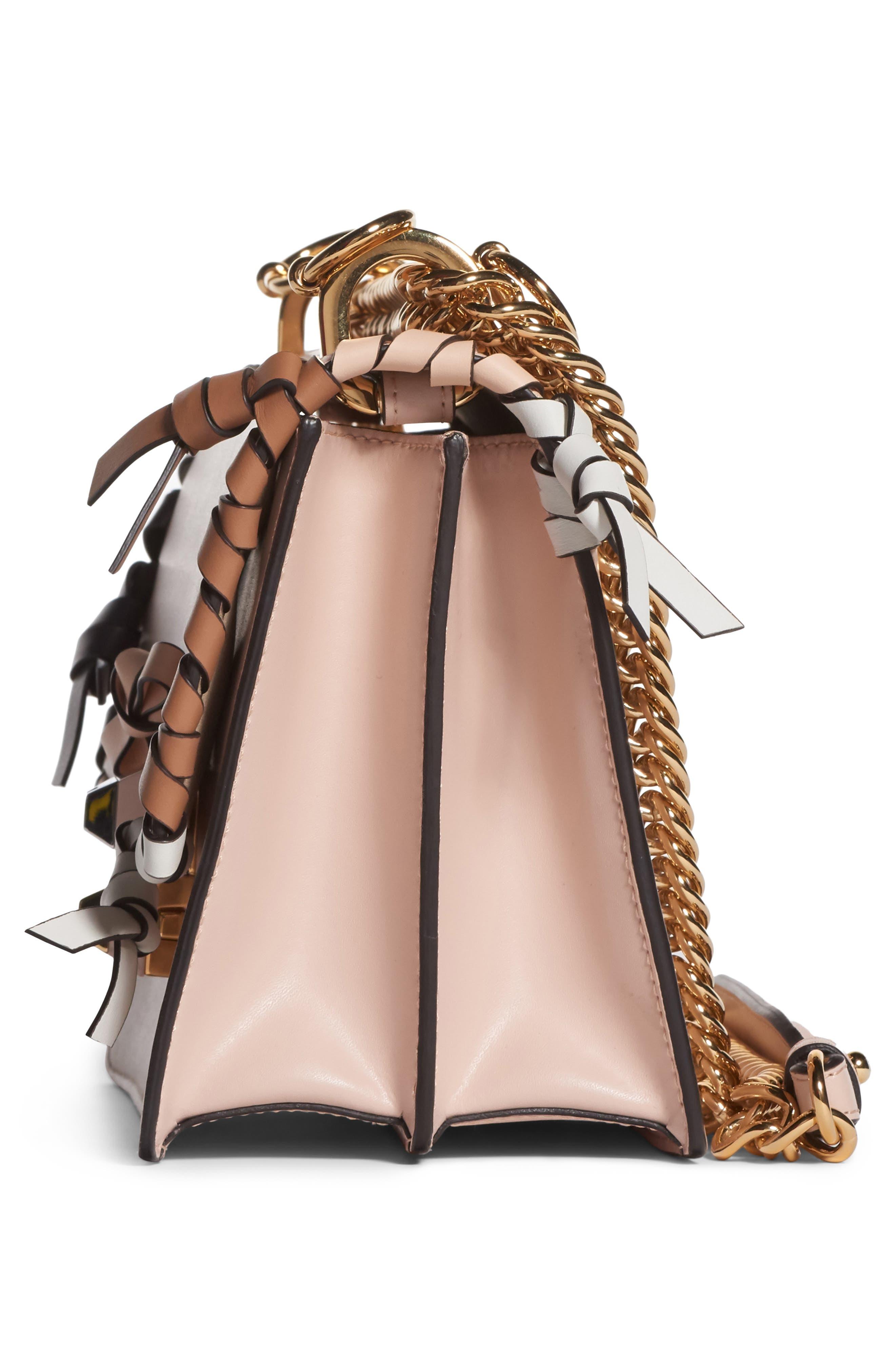 Small Kan Whipstitch Leather Shoulder Bag,                             Alternate thumbnail 4, color,                             PLASTER MULTI