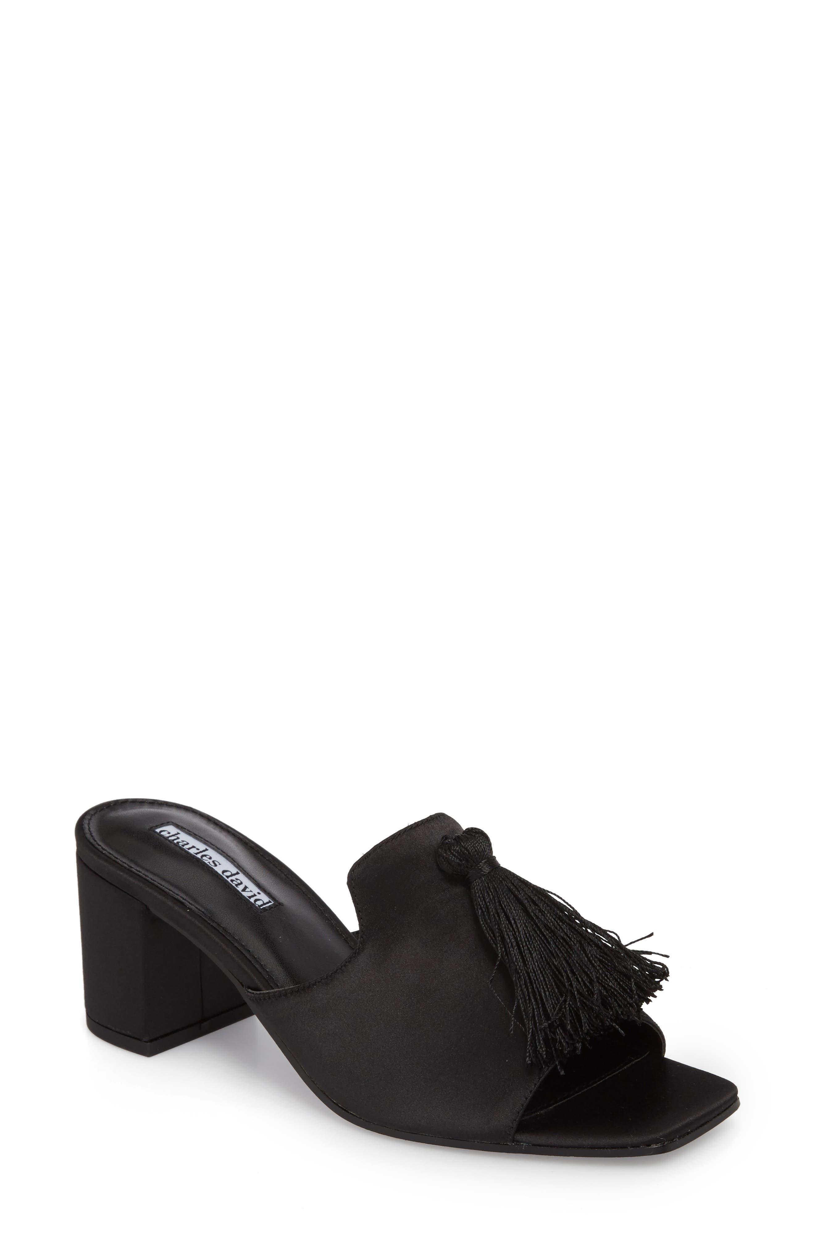 Chia Sandal,                         Main,                         color, BLACK SATIN