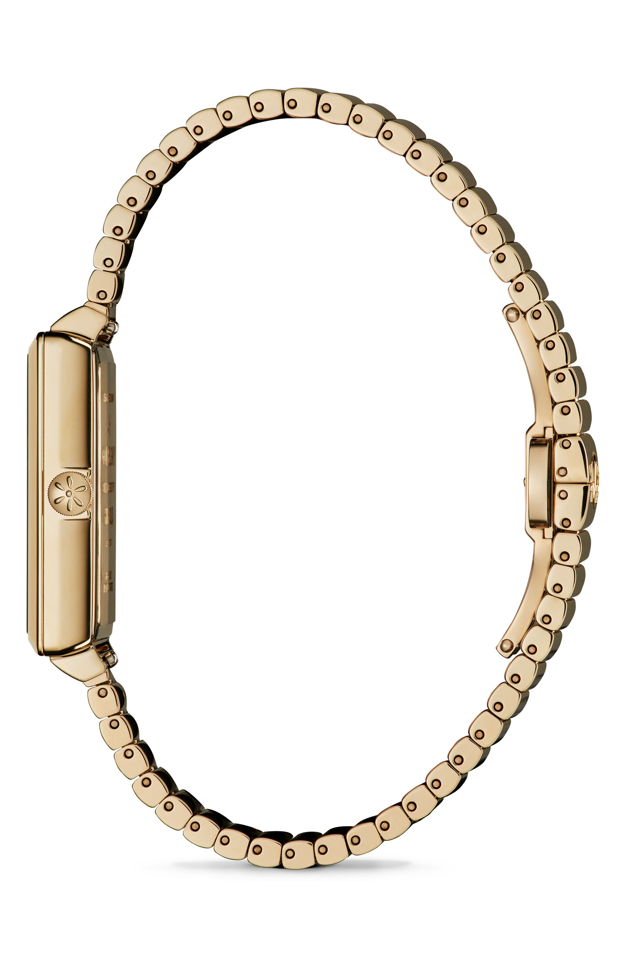The Shirley Fromer Bracelet Watch, 32mm x 25mm,                             Alternate thumbnail 3, color,                             GOLD/ SANDSTONE/ GOLD