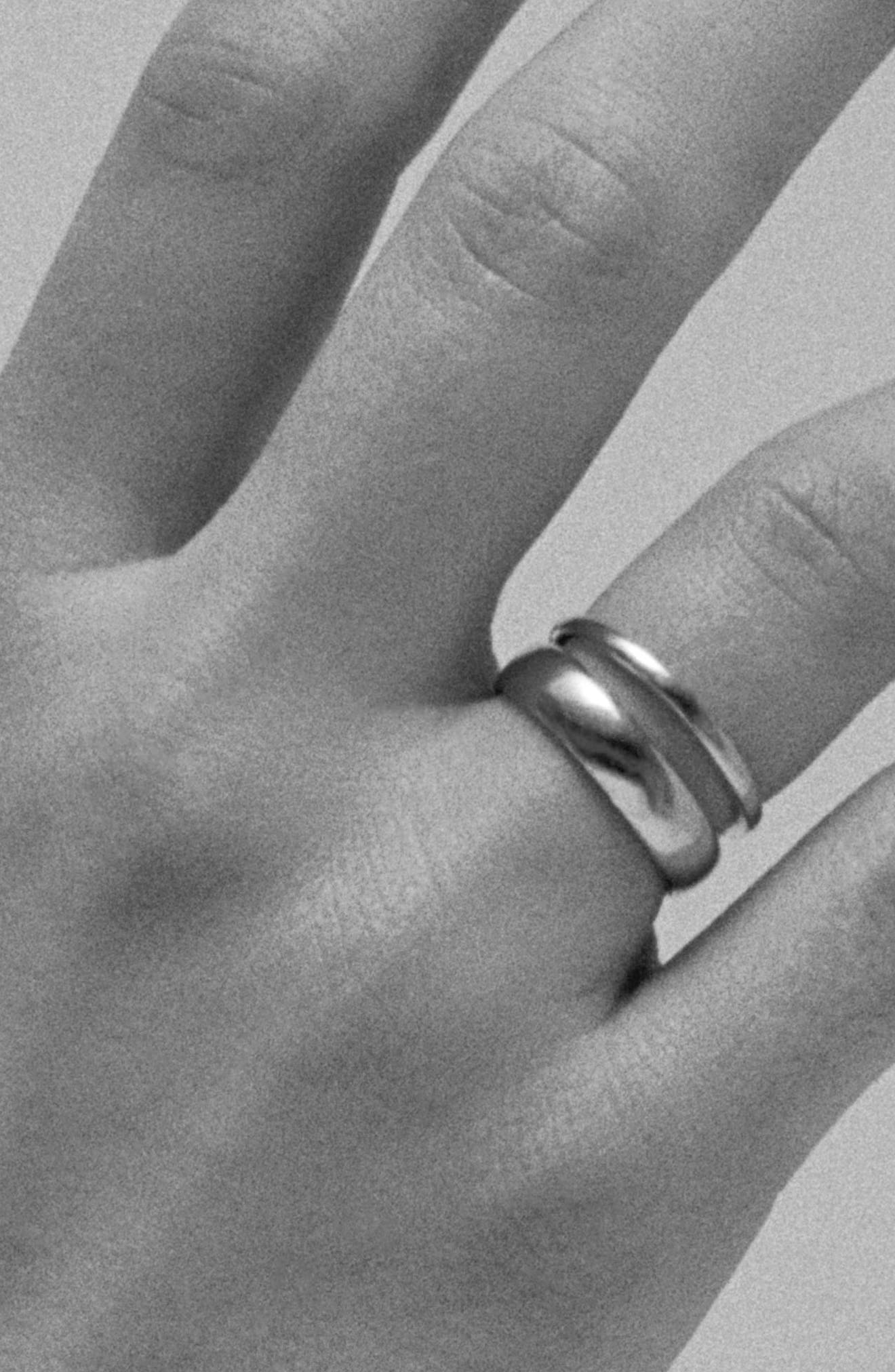Double Band Ring,                             Alternate thumbnail 2, color,                             STERLING SILVER