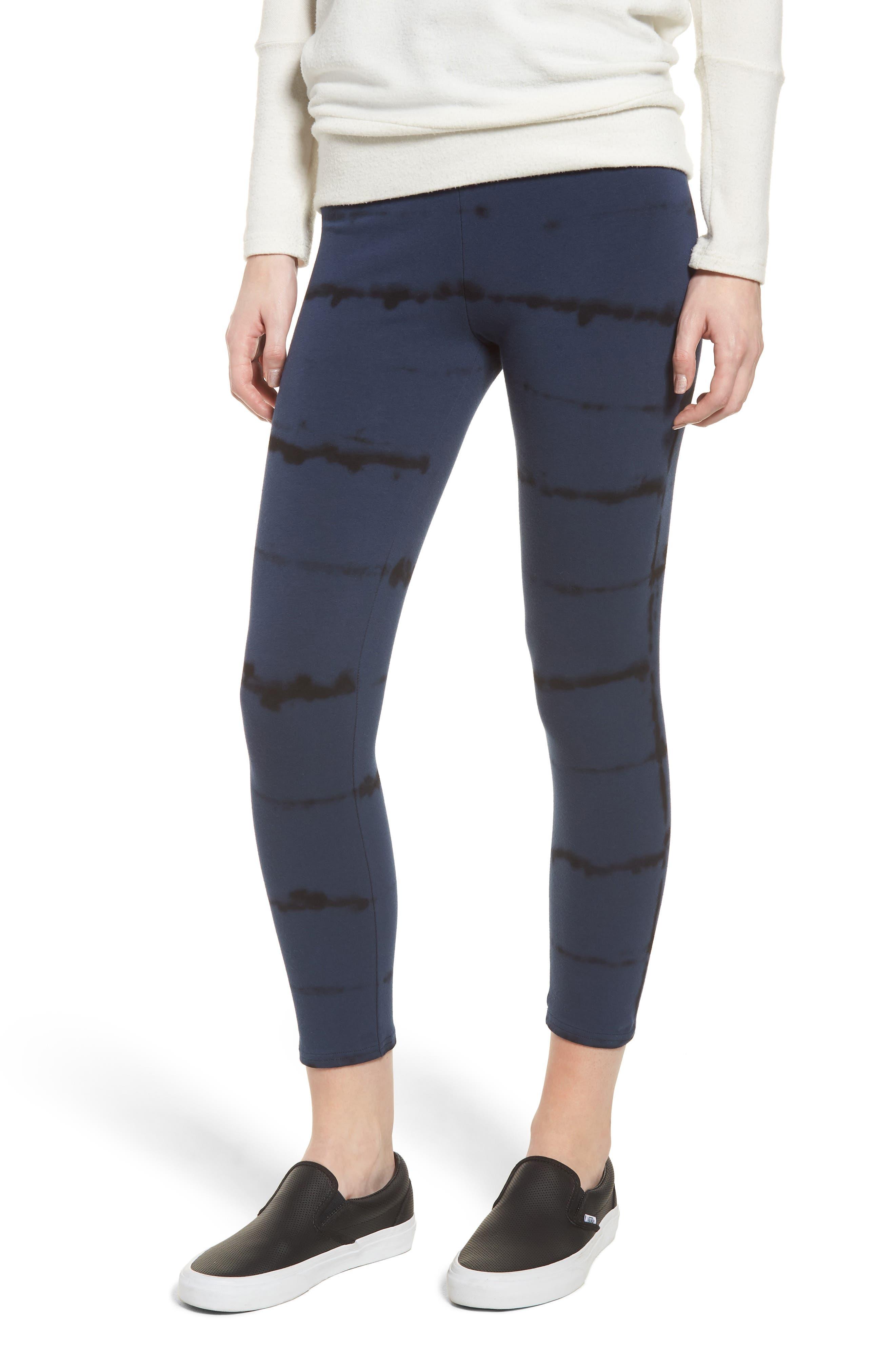 Nordstrom High Waist Crop Leggings, Blue