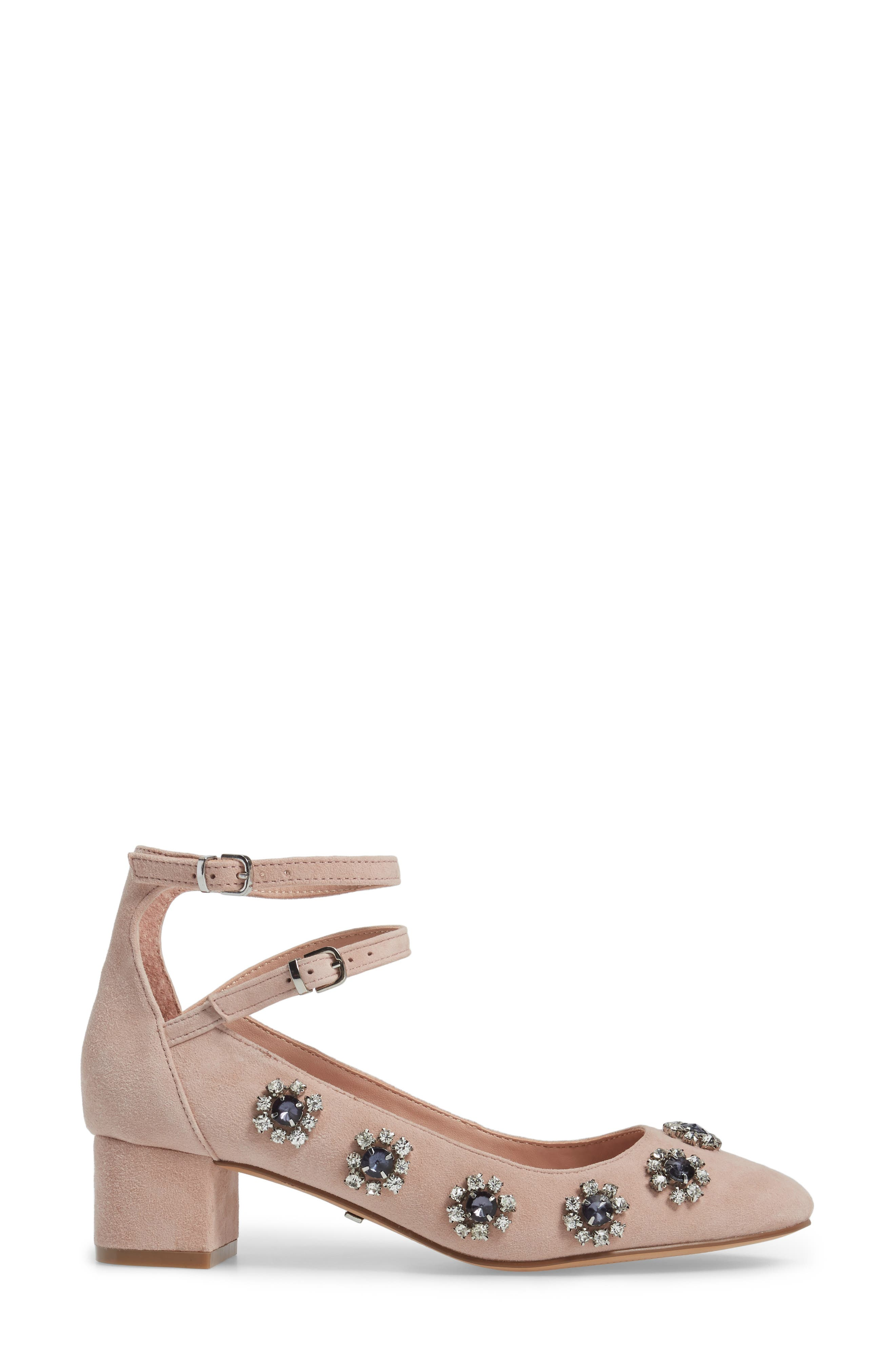 Jaida Crystal Embellished Pump,                             Alternate thumbnail 3, color,                             250