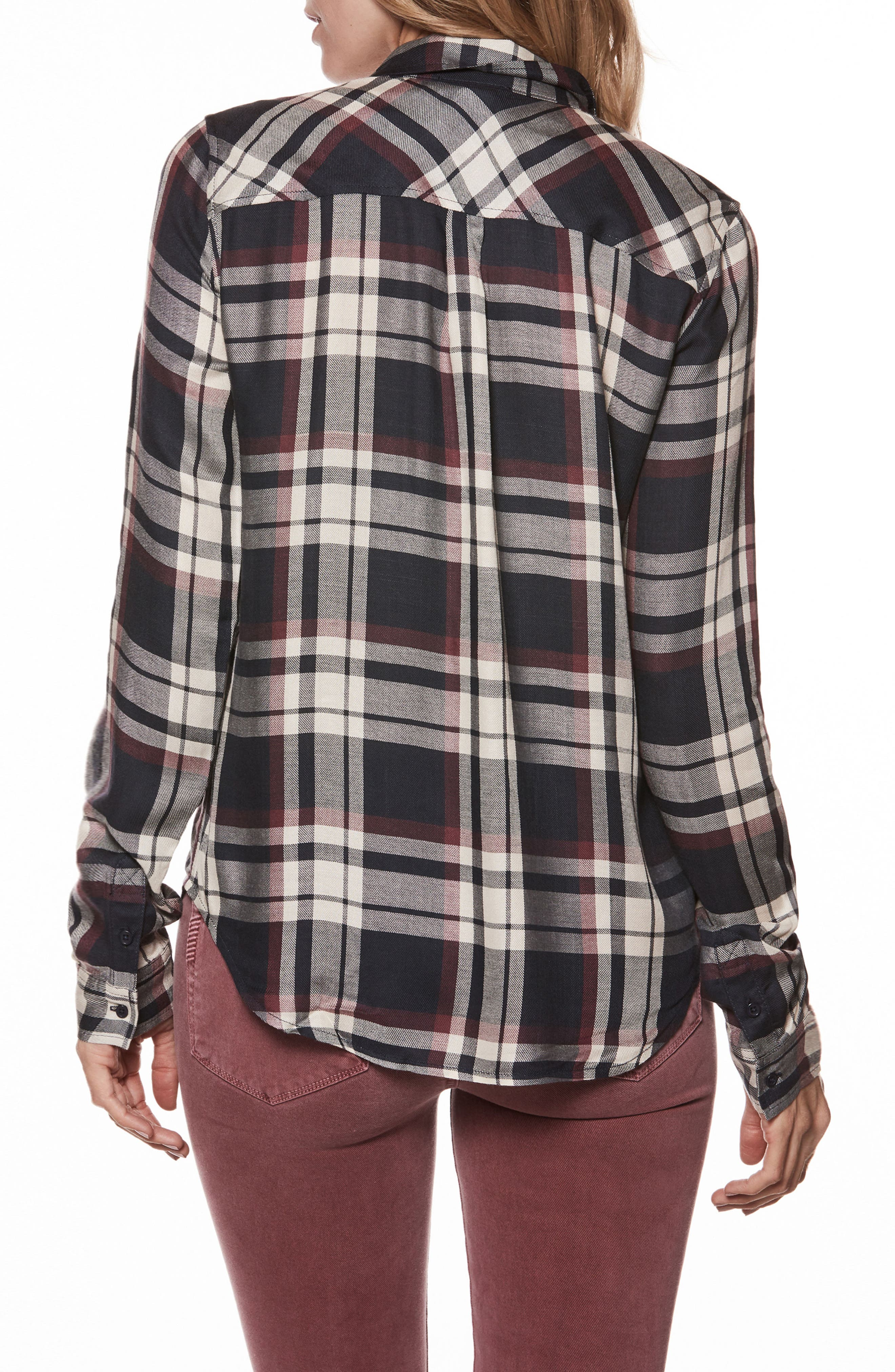 Mya Plaid Shirt,                             Alternate thumbnail 2, color,                             400