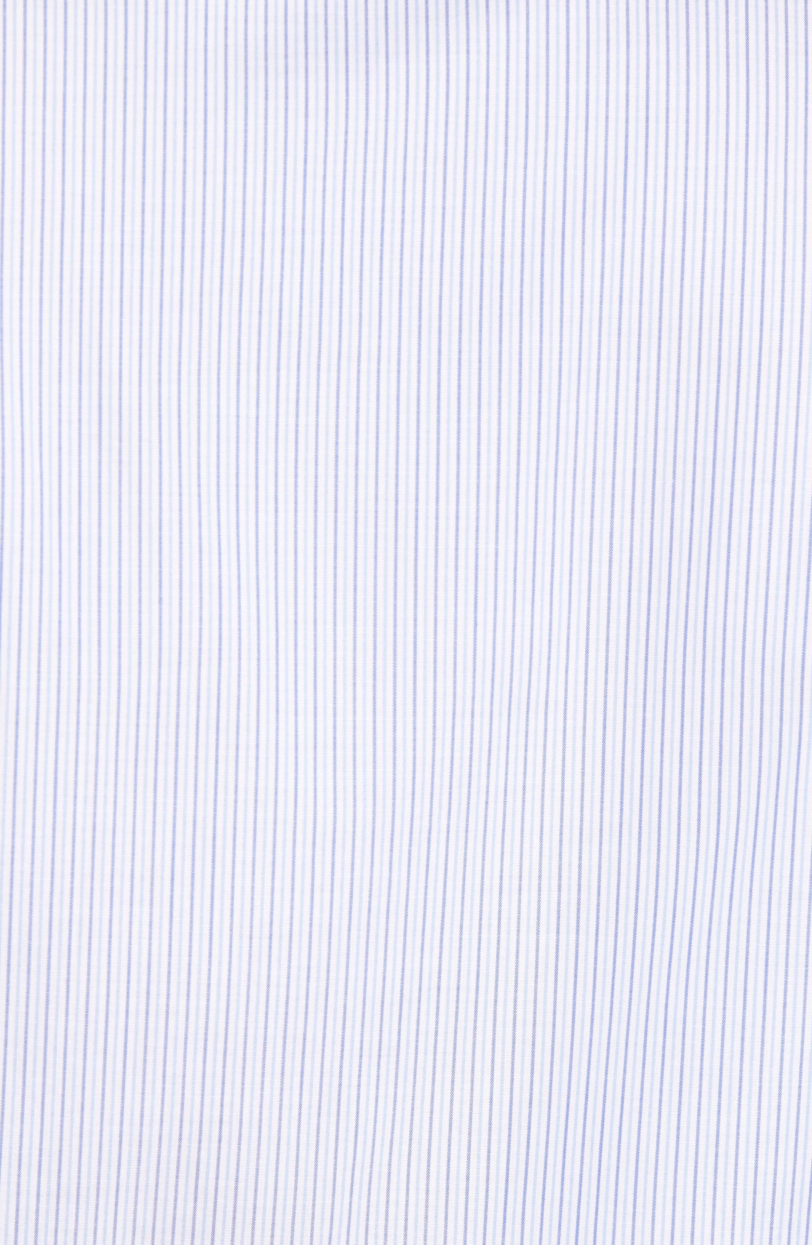 Trim Fit Stripe Sport Shirt,                             Alternate thumbnail 5, color,                             400