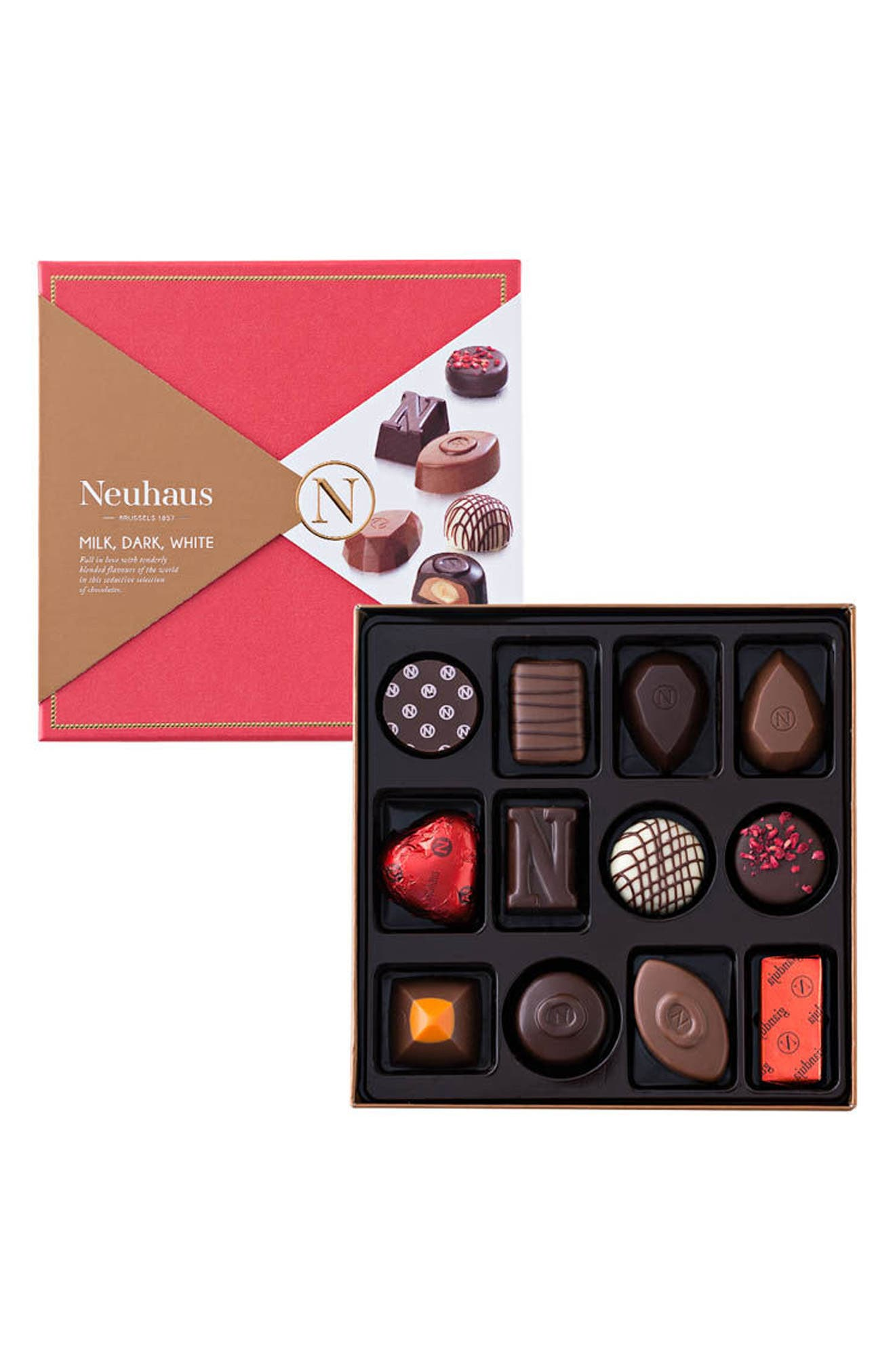 Discovery Collection 12-Piece Chocolate Gift Set,                             Main thumbnail 1, color,                             RED