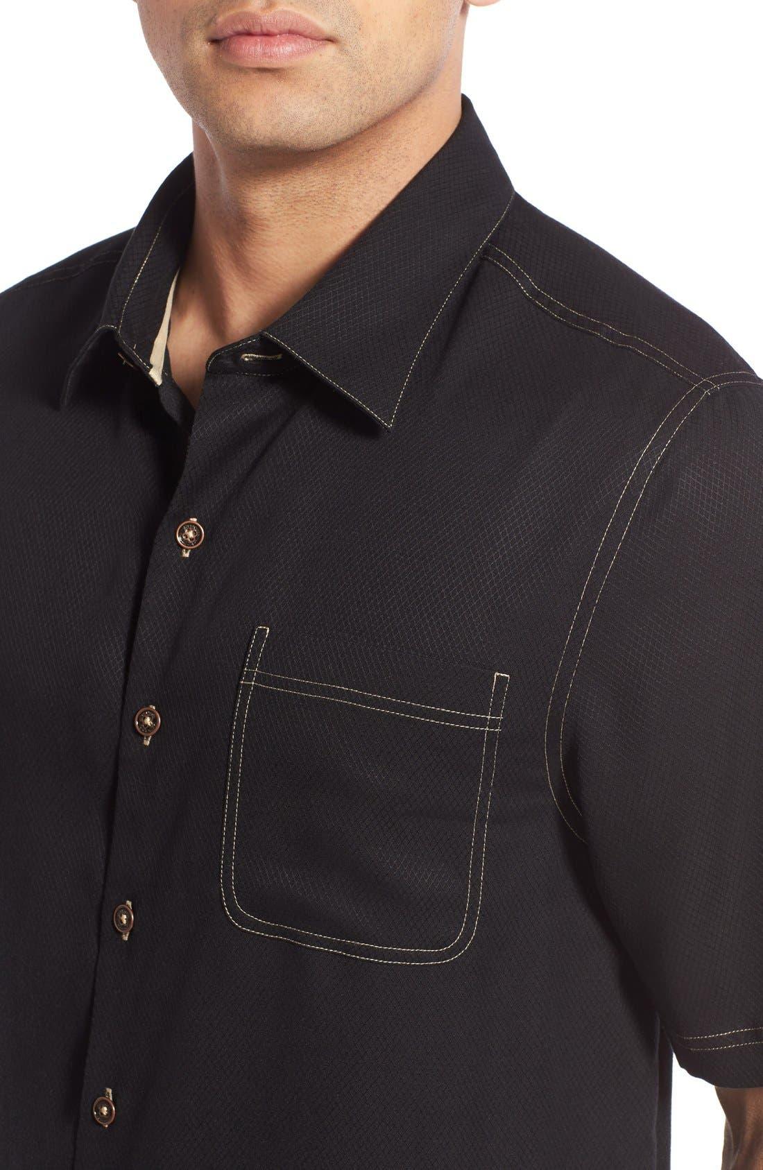 'Honeycomb' Regular Fit Short Sleeve Textured Sport Shirt,                             Alternate thumbnail 16, color,