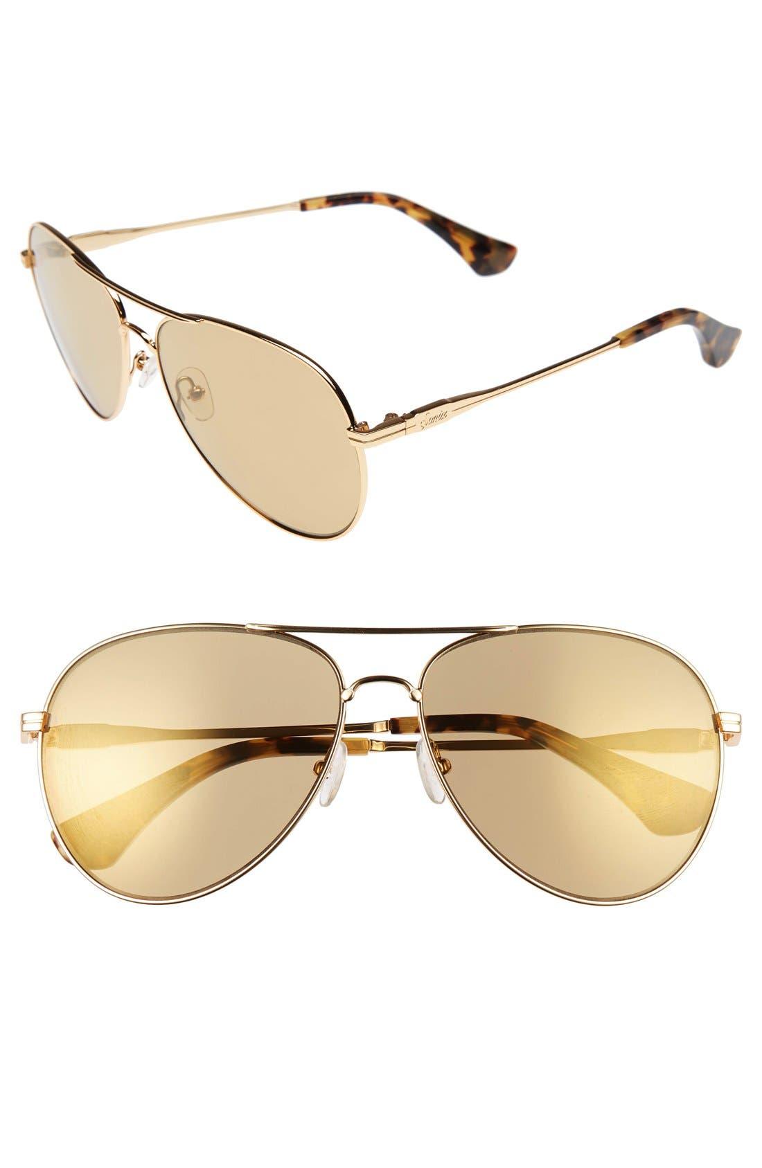 Lodi 62mm Mirrored Aviator Sunglasses,                             Main thumbnail 5, color,