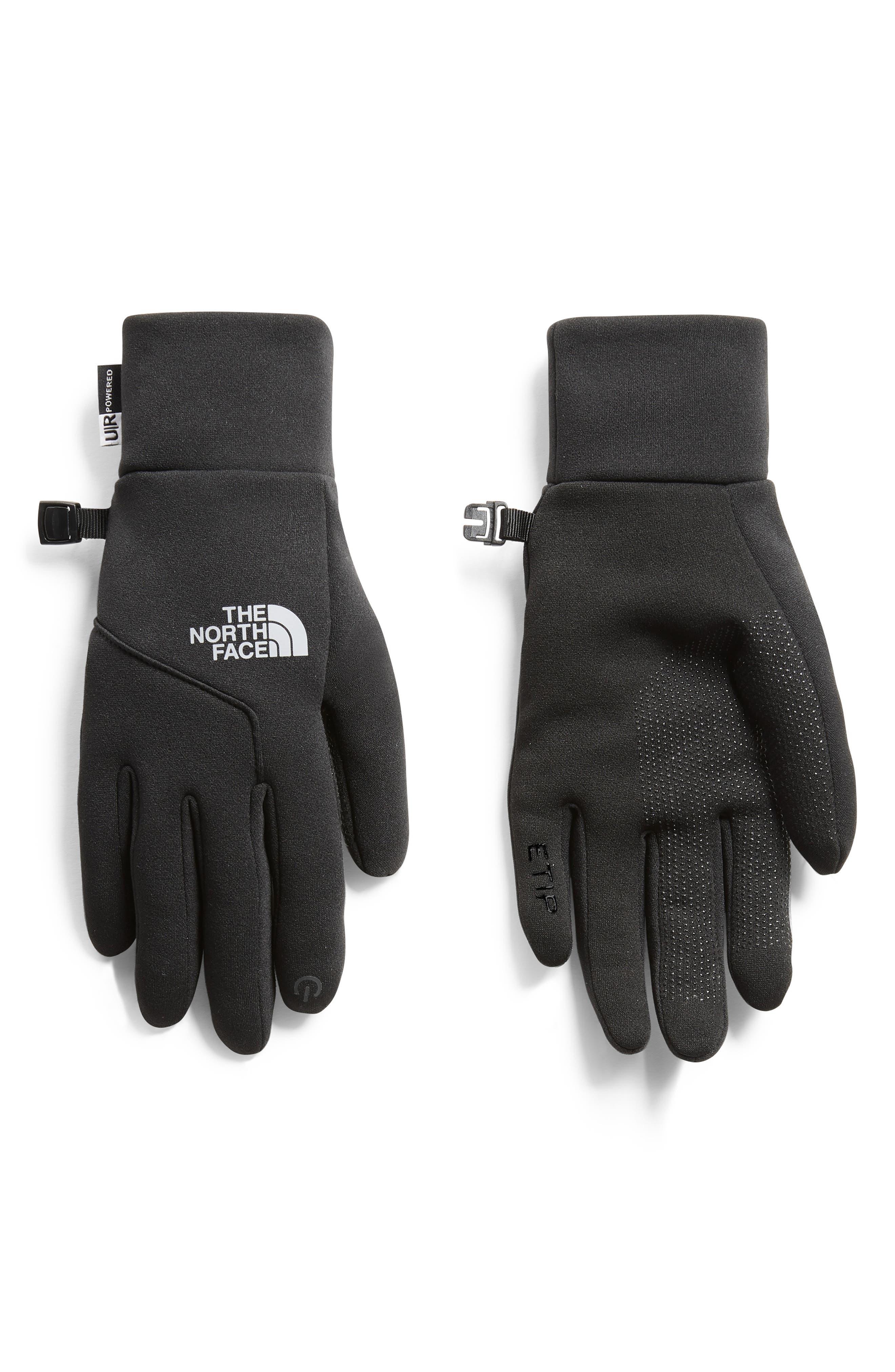 E-Tip Gloves,                             Main thumbnail 1, color,                             TNF BLACK