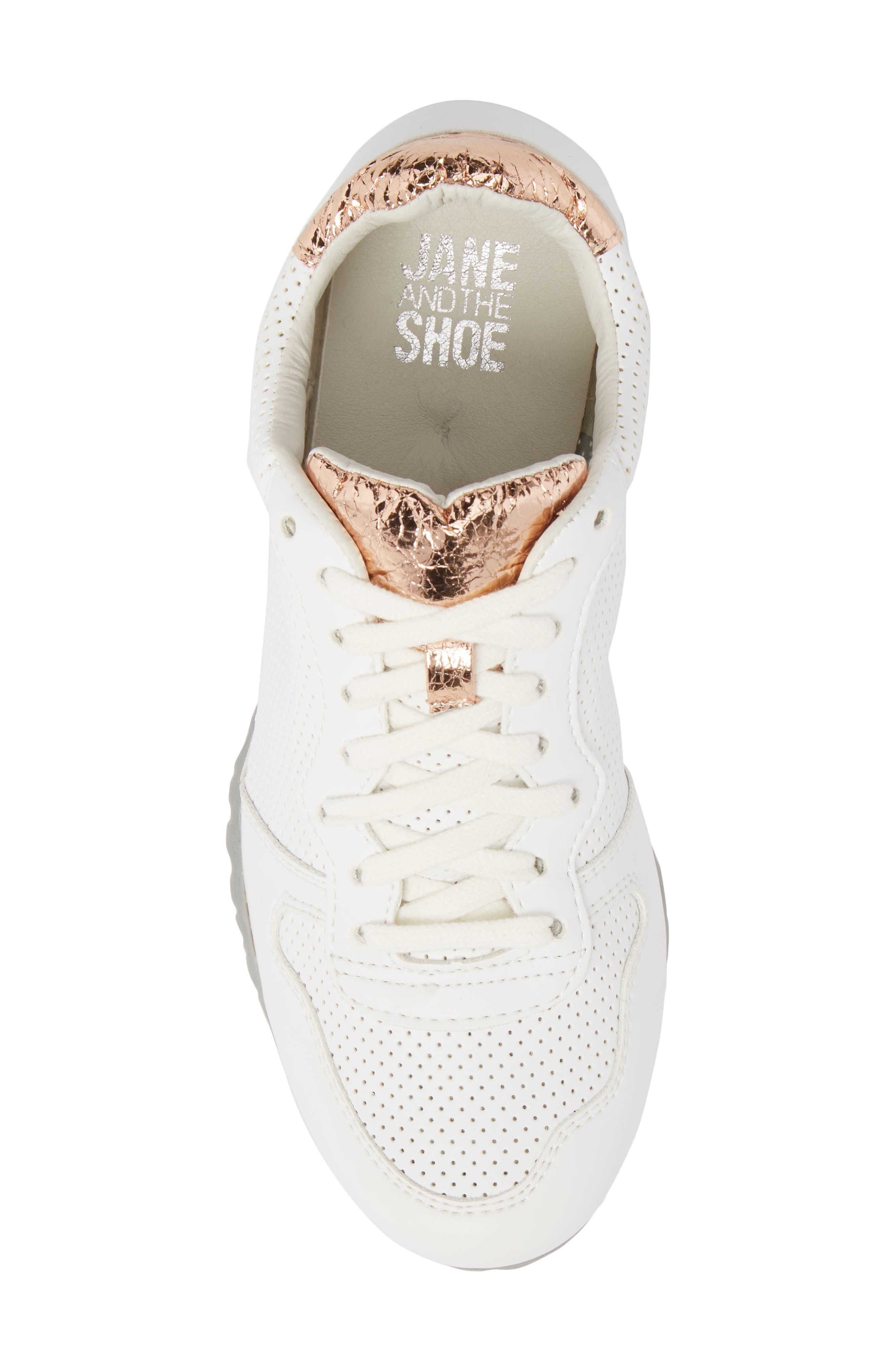 Joanna Perforated Sneaker,                             Alternate thumbnail 5, color,                             124