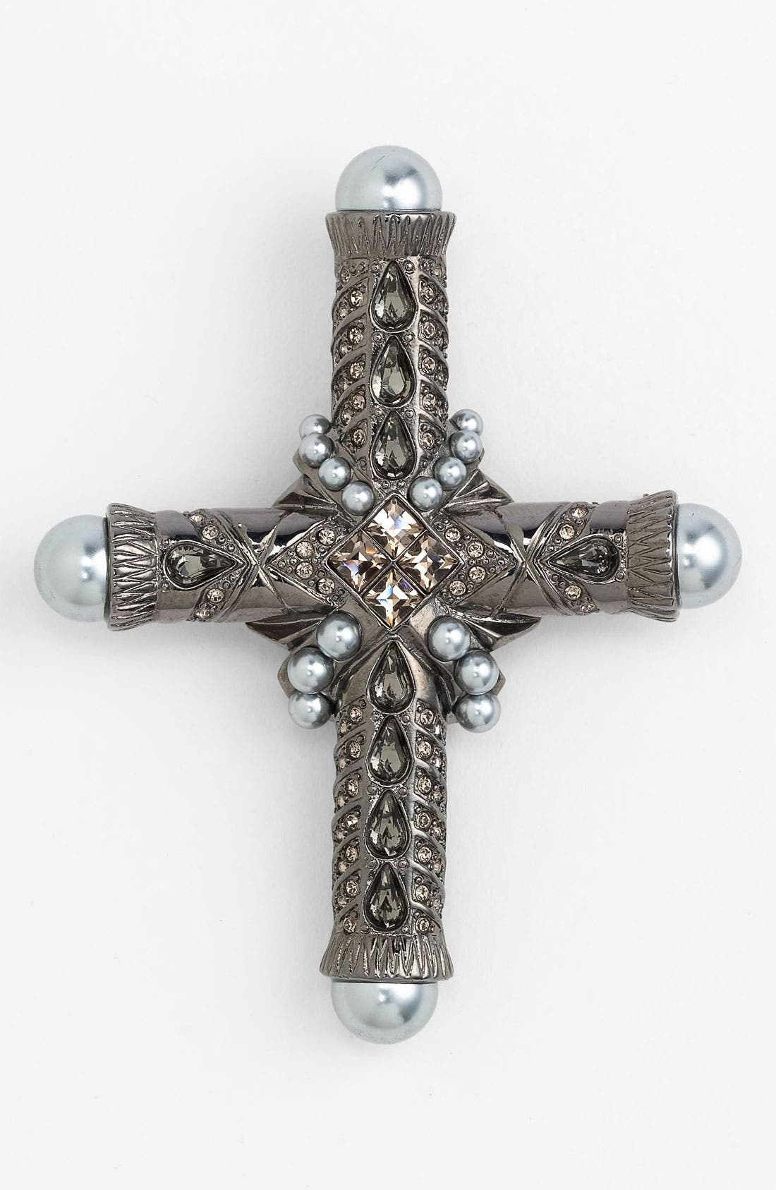Cross Brooch,                             Main thumbnail 1, color,                             001
