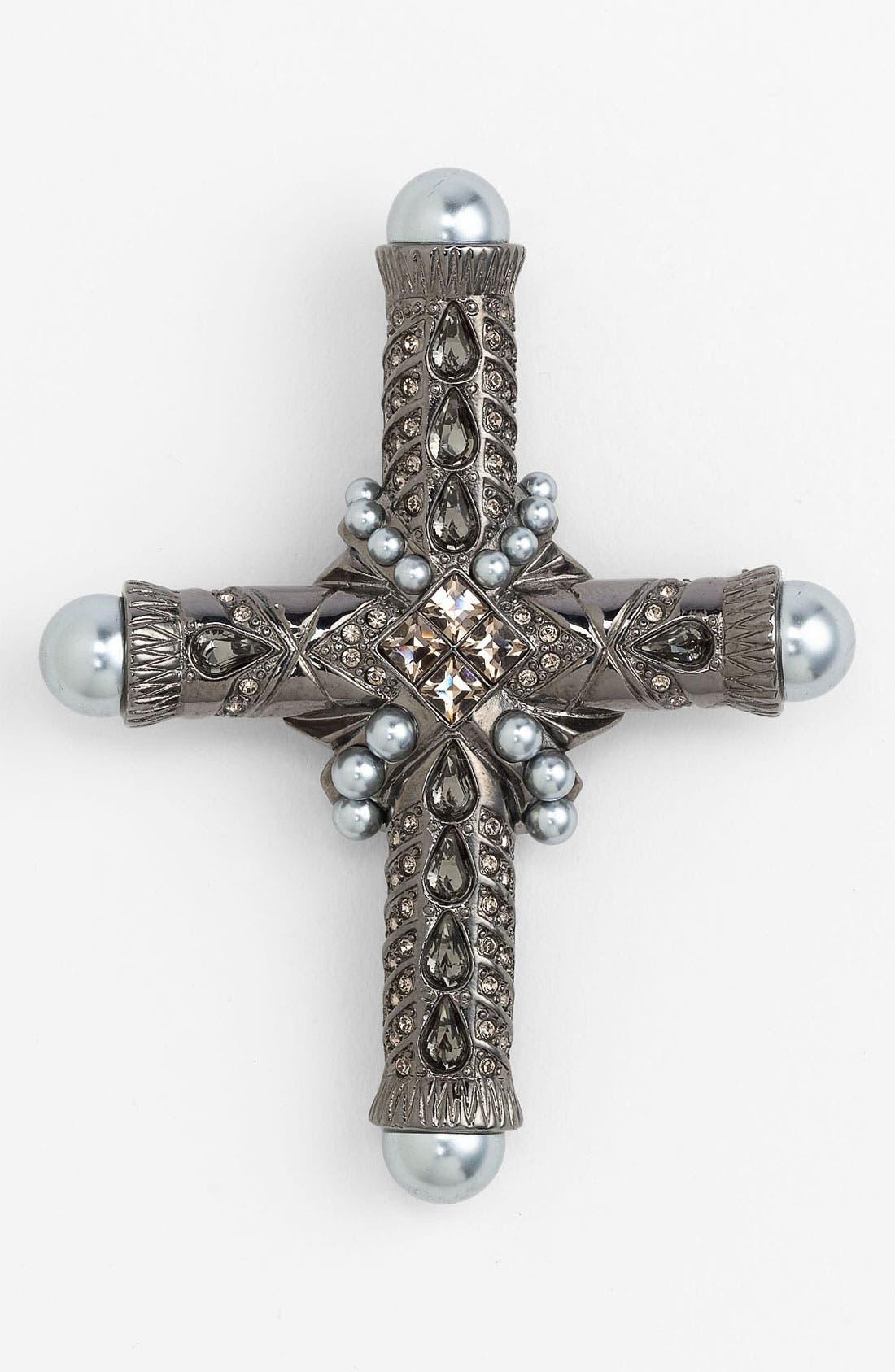 Cross Brooch,                         Main,                         color, 001