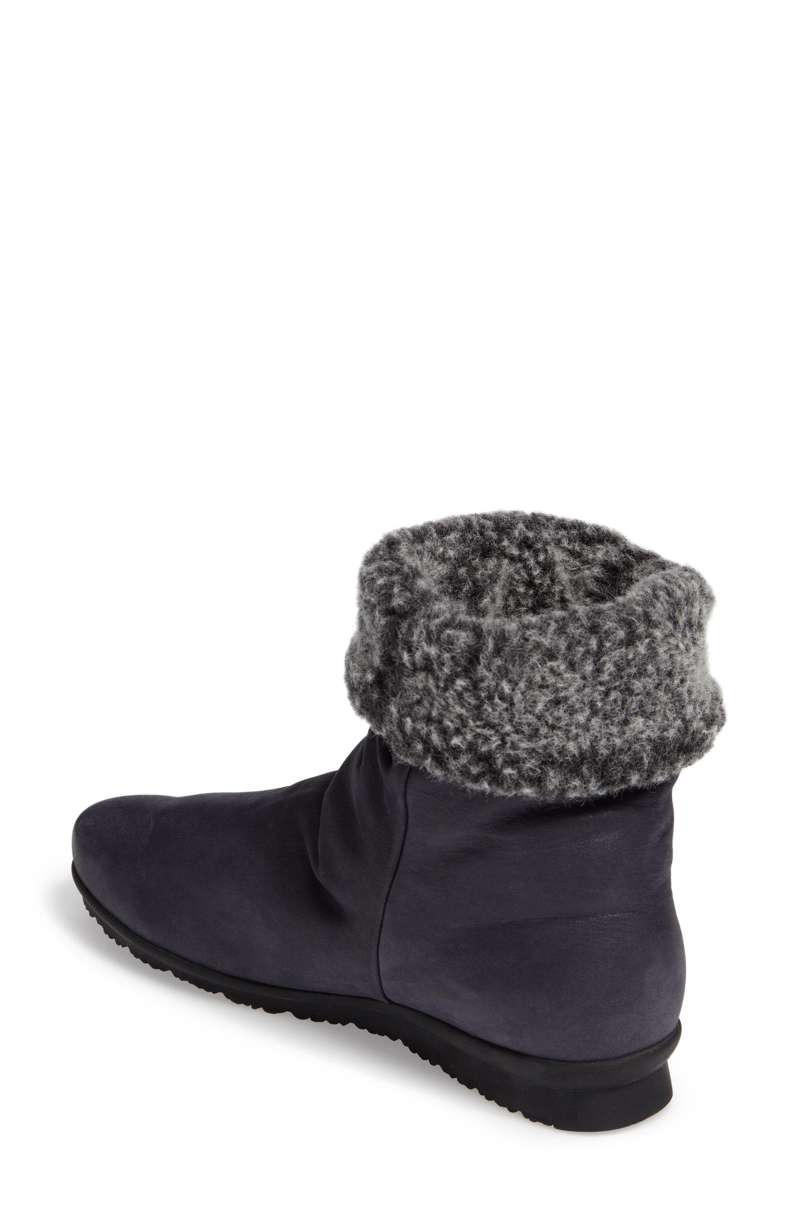 Barosa Faux Shearling Cuffed Bootie,                             Alternate thumbnail 3, color,