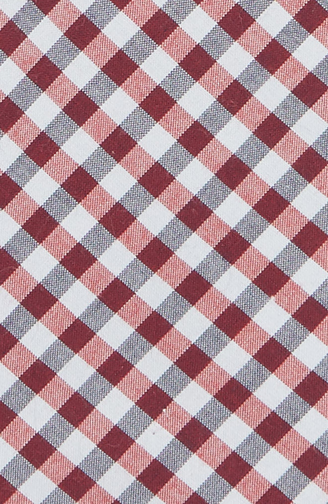 Check Cotton Tie,                             Alternate thumbnail 2, color,                             RED
