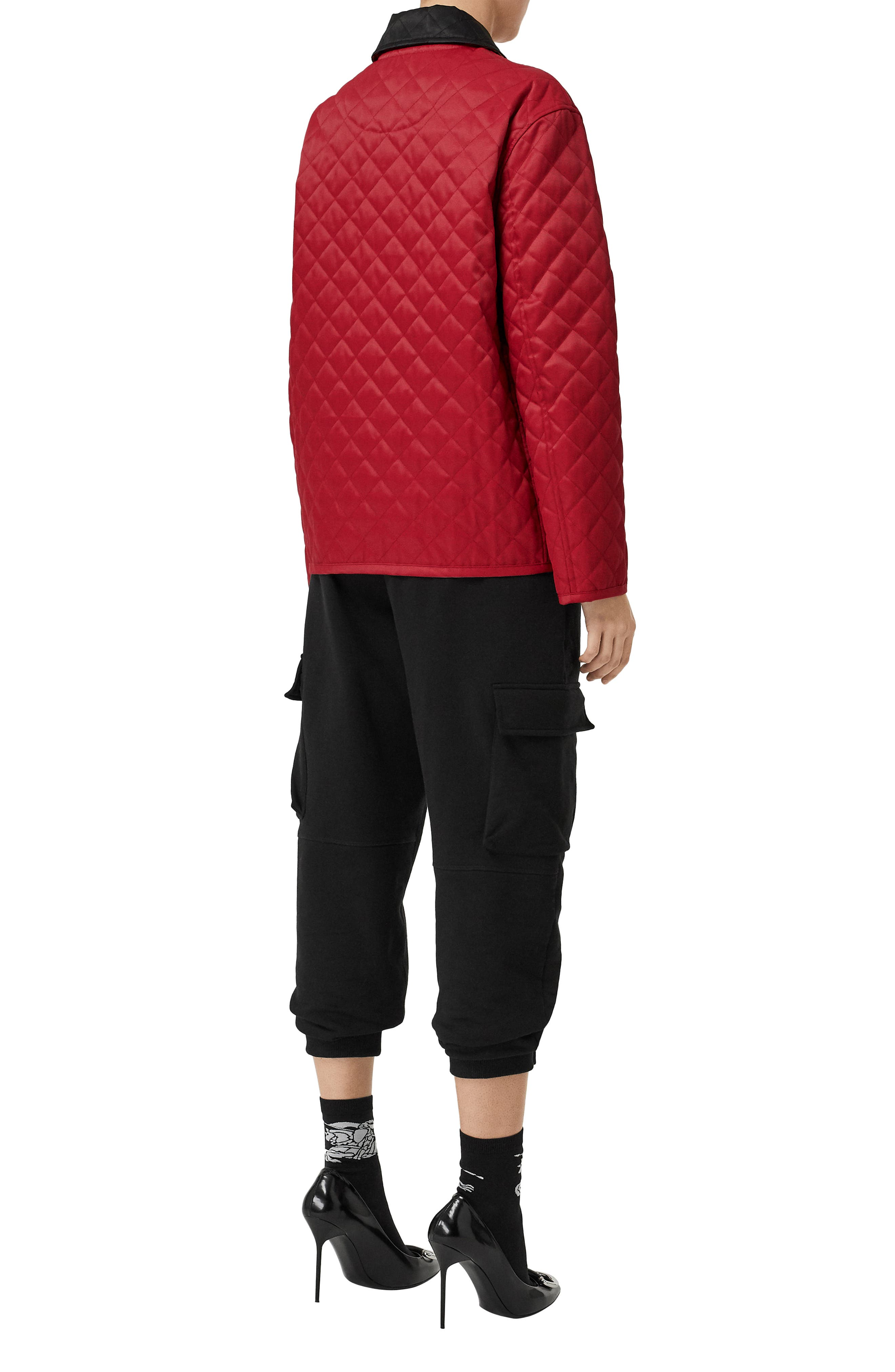 Dranefeld Quilted Jacket,                             Alternate thumbnail 6, color,                             RED