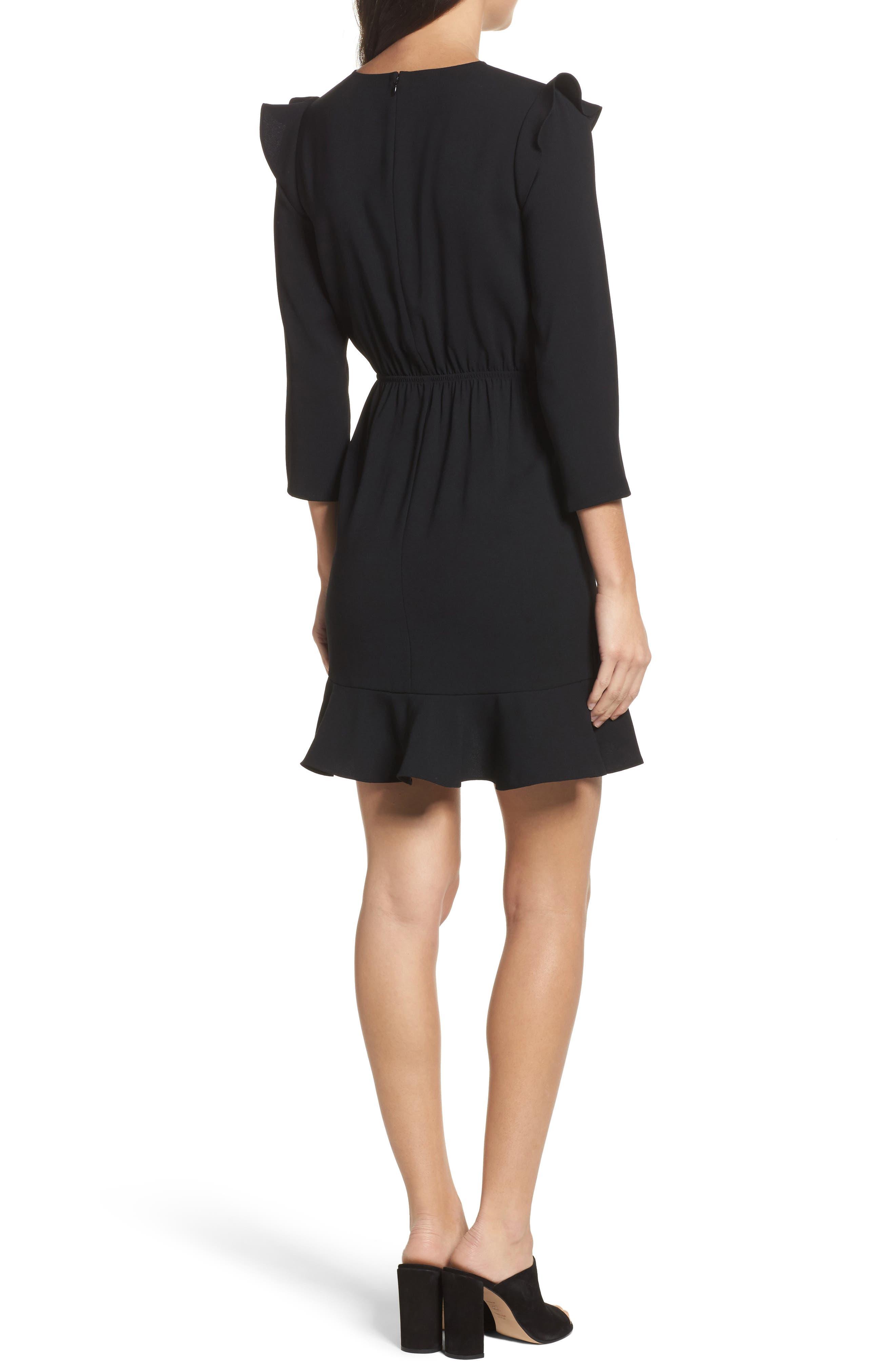 St Germain Ruffle Fit & Flare Dress,                             Alternate thumbnail 3, color,