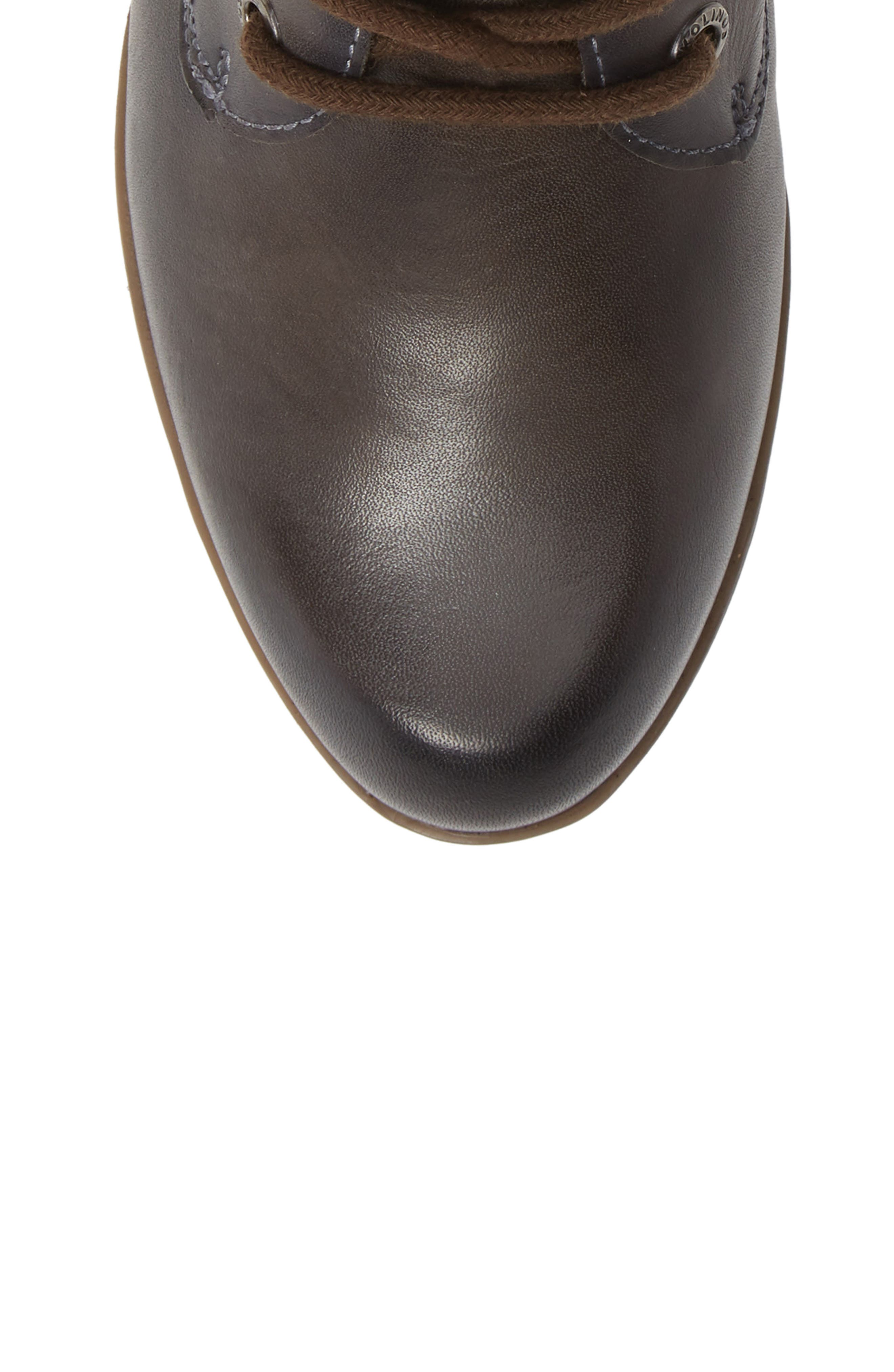 Rotterdam Bootie,                             Alternate thumbnail 5, color,                             LEAD LEATHER