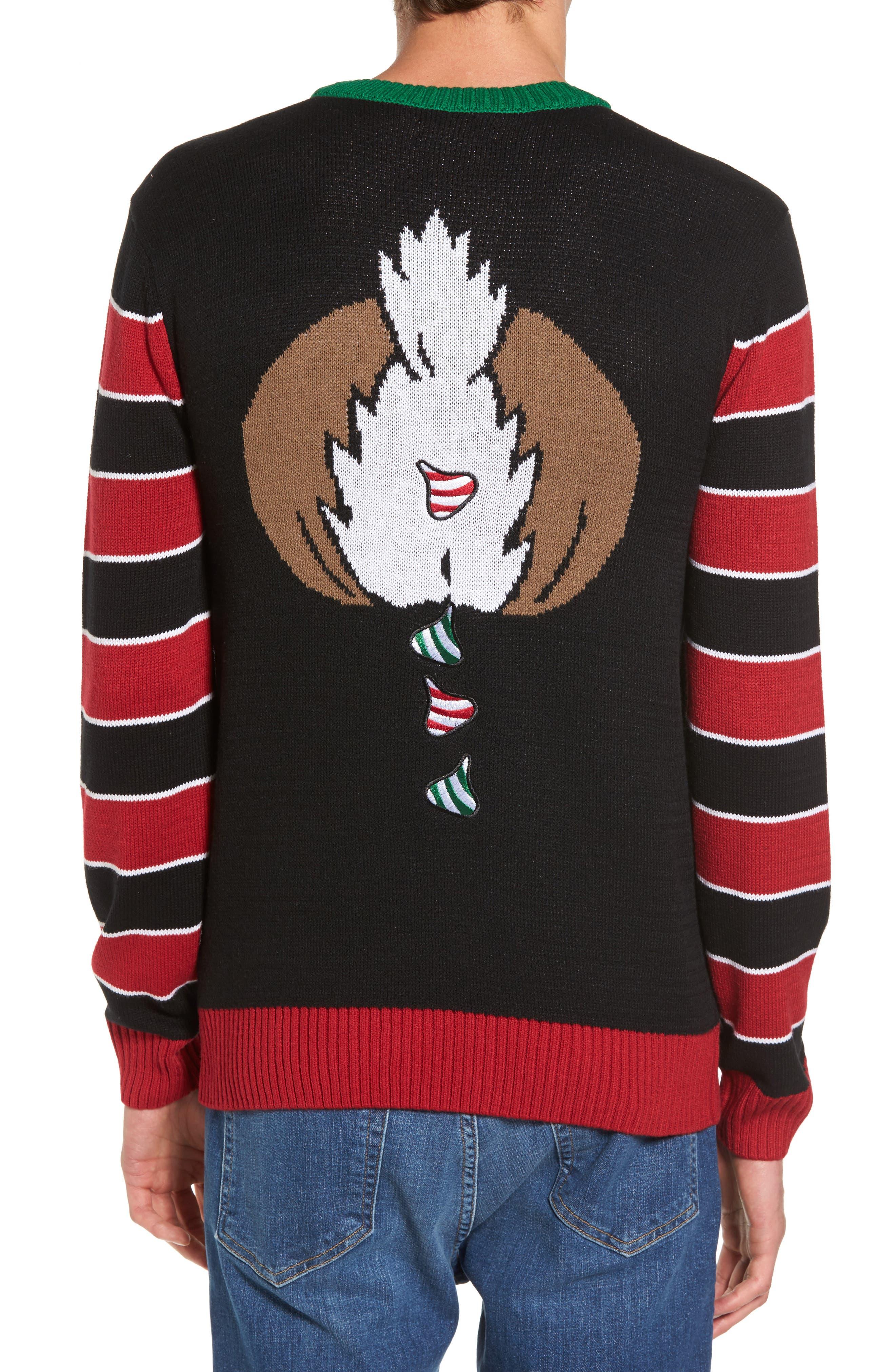 Reindeer Sweater,                             Alternate thumbnail 2, color,                             001