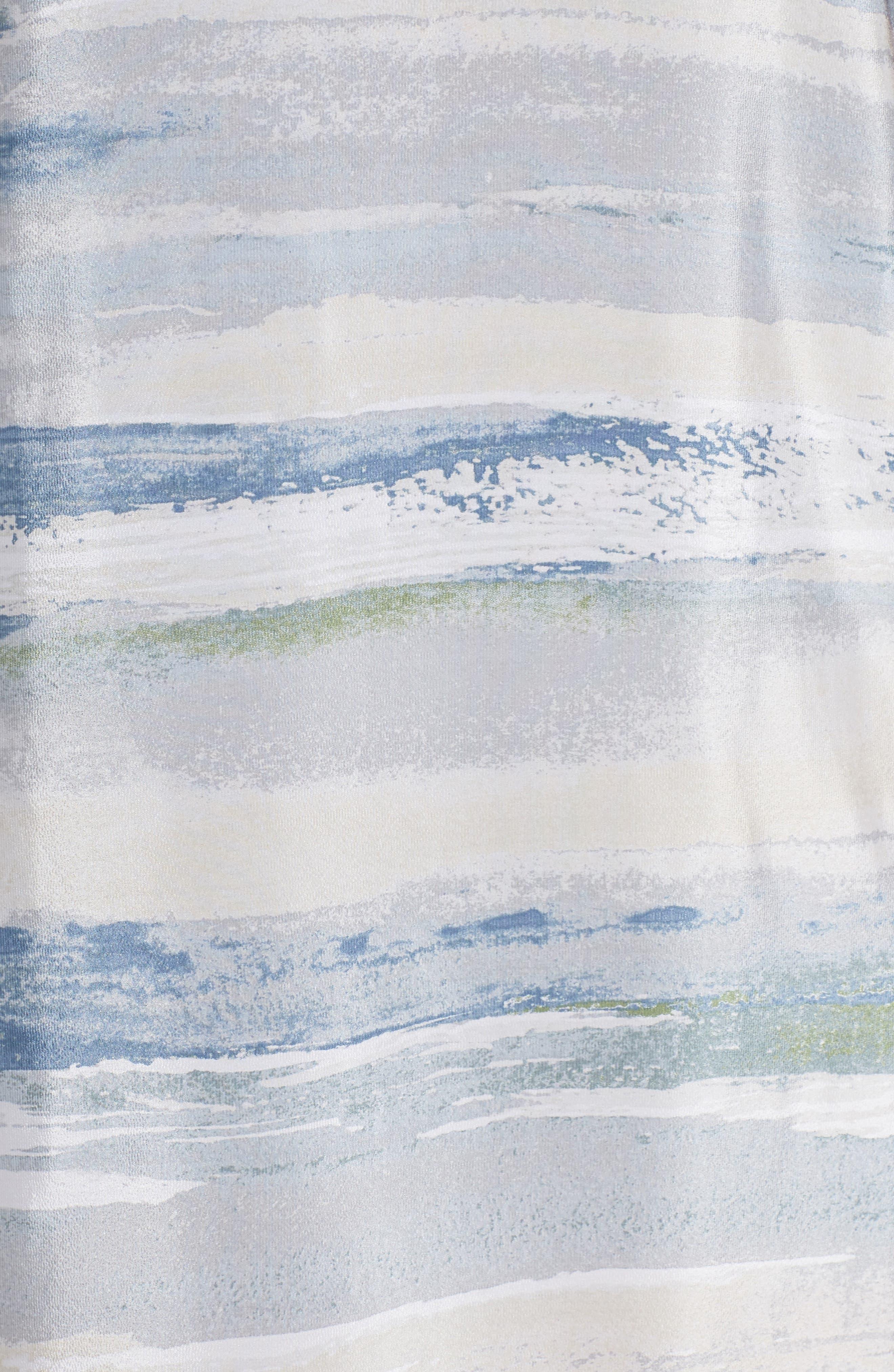 Watercolor Silk Blend Sleeveless Dress,                             Alternate thumbnail 5, color,