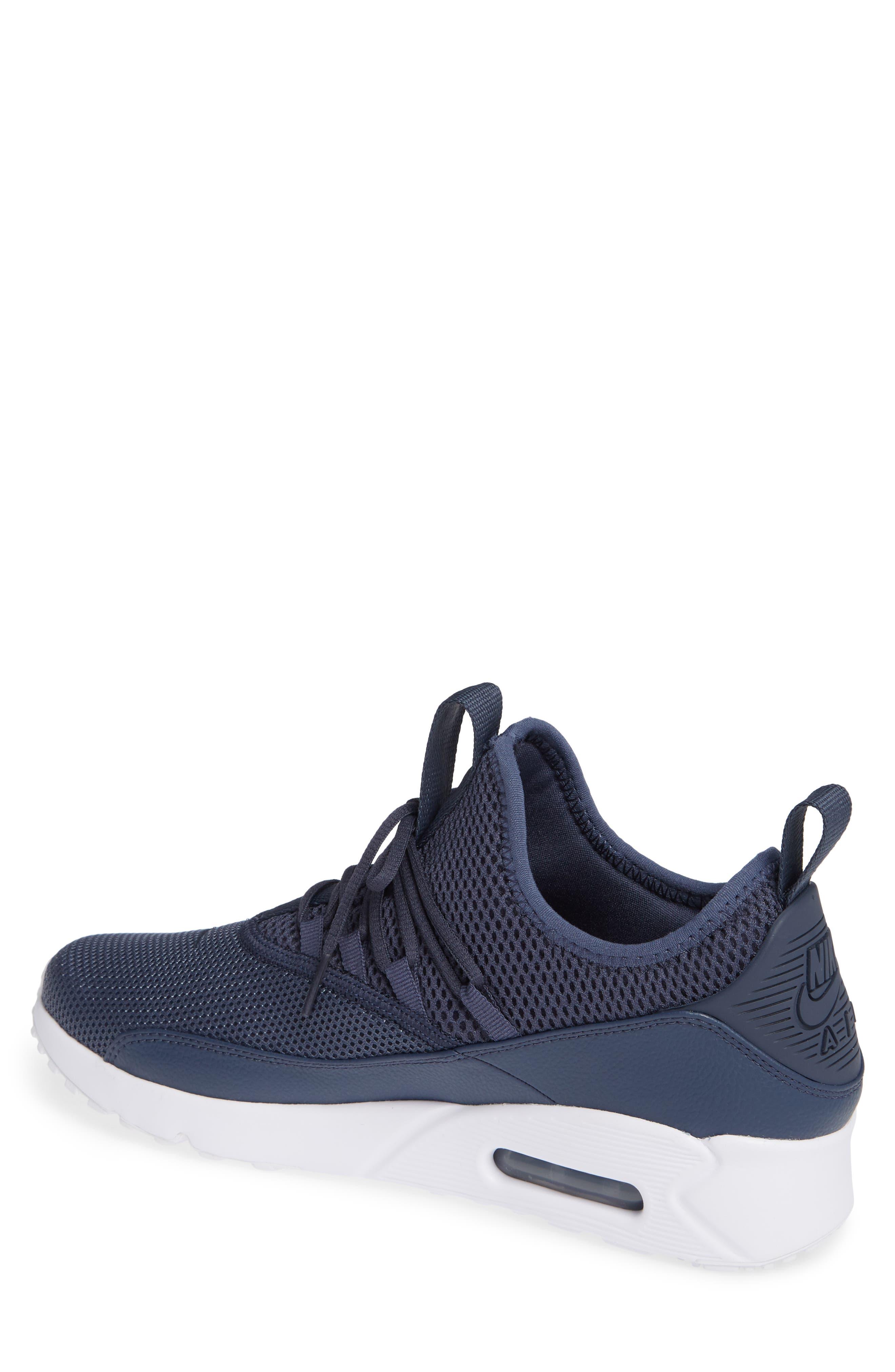 Air Max 90 EZ Sneaker,                             Alternate thumbnail 2, color,                             THUNDER BLUE/ WHITE