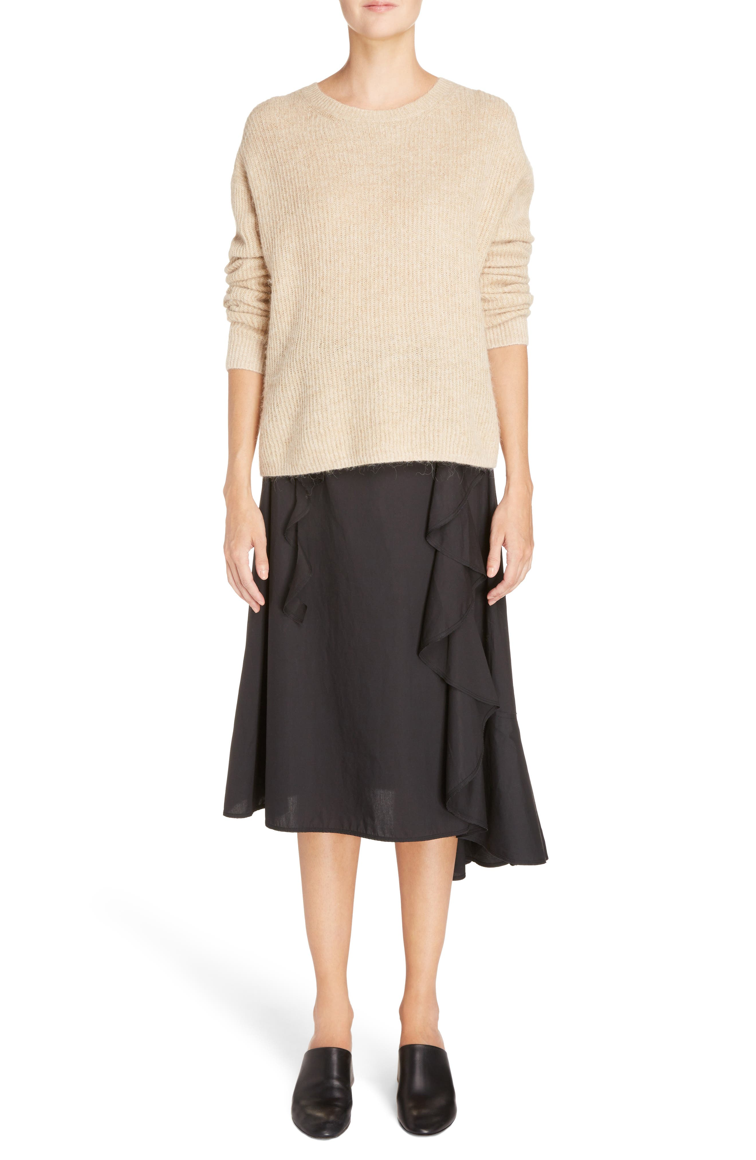 Hamina Ruffle Skirt,                             Alternate thumbnail 6, color,                             001