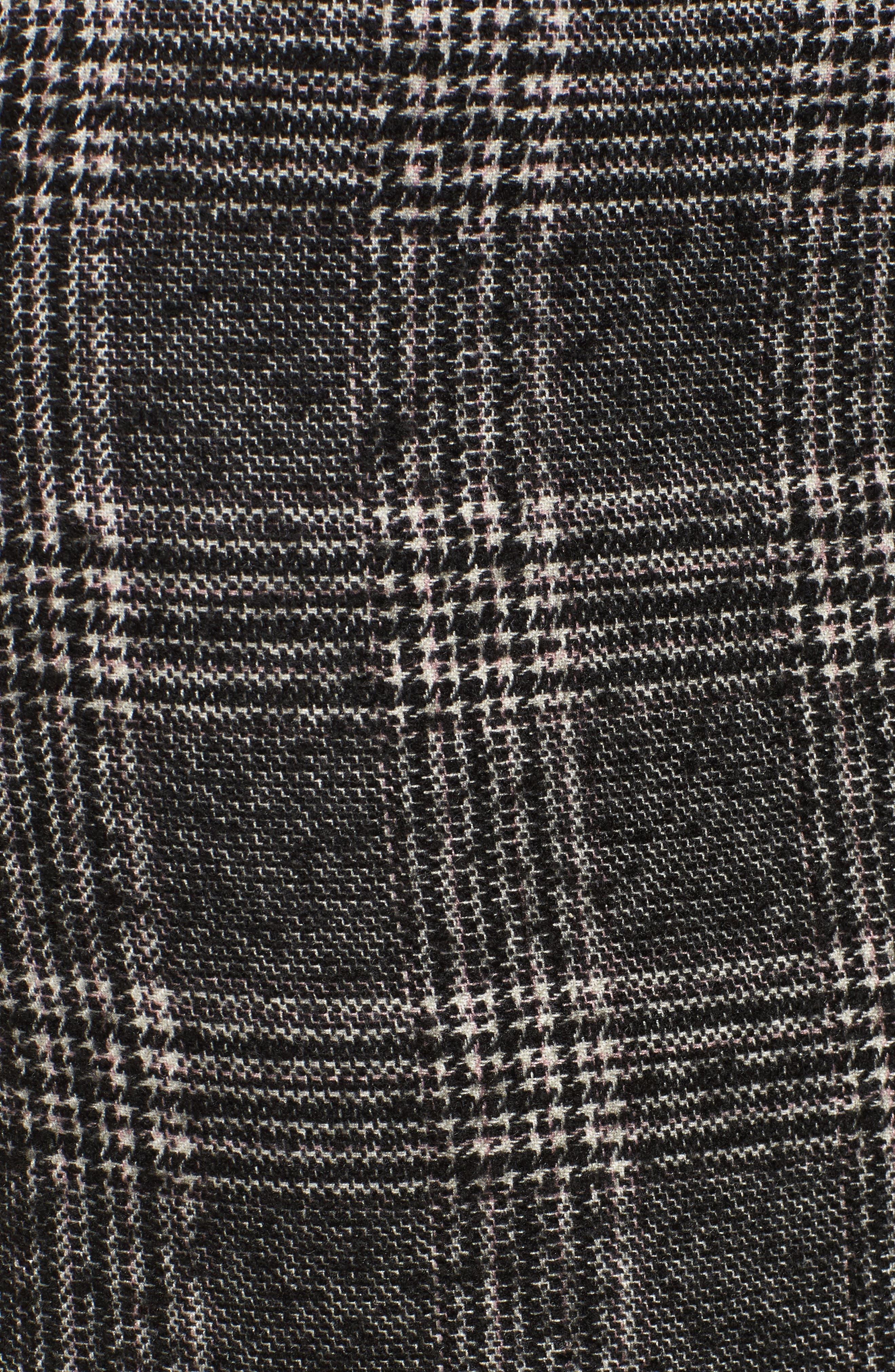 Asymmetrical Ruffle Hem Skirt,                             Alternate thumbnail 5, color,                             001