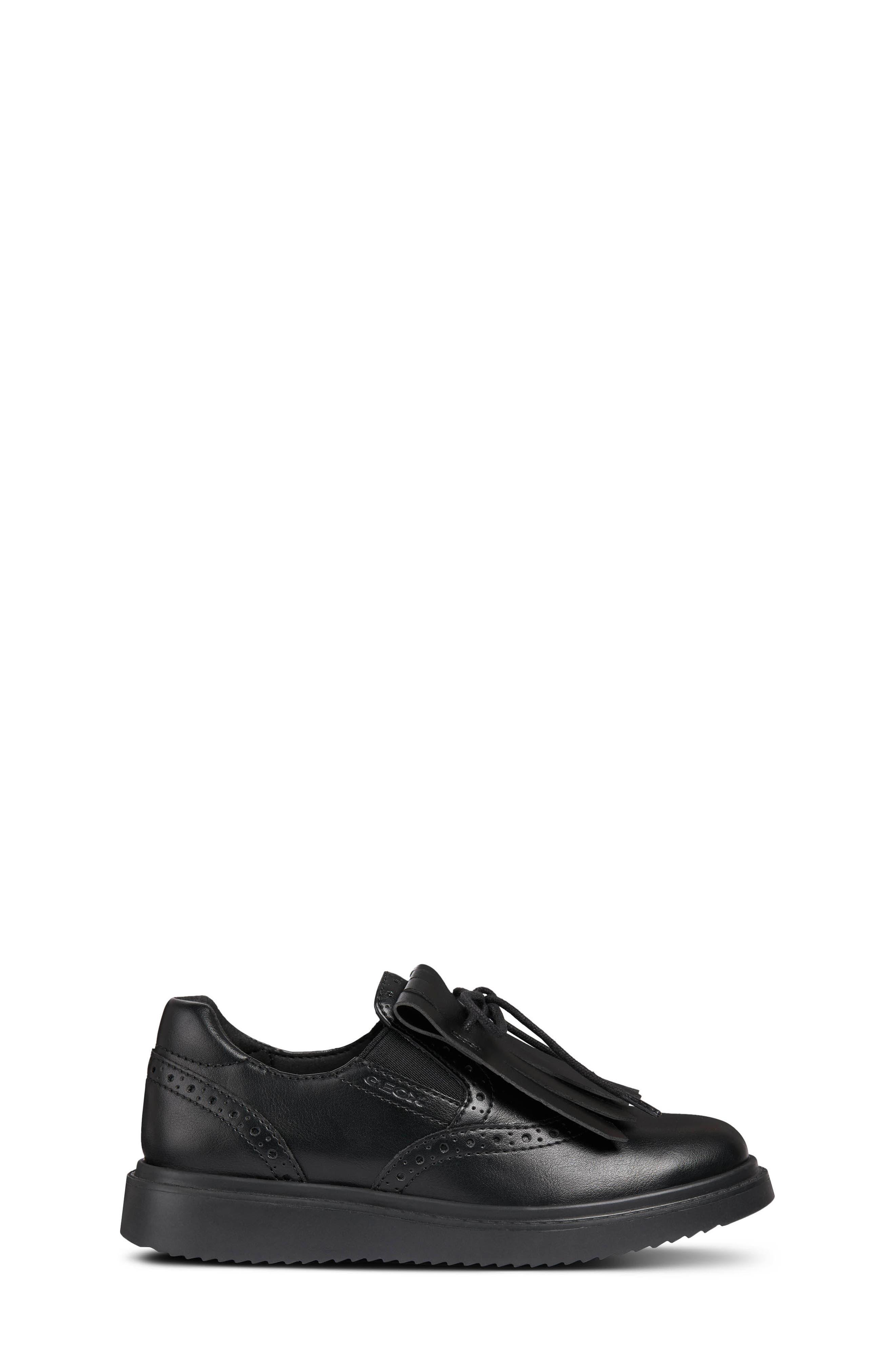 Thymar Kiltie Fringe Sneaker,                             Alternate thumbnail 3, color,                             BLACK