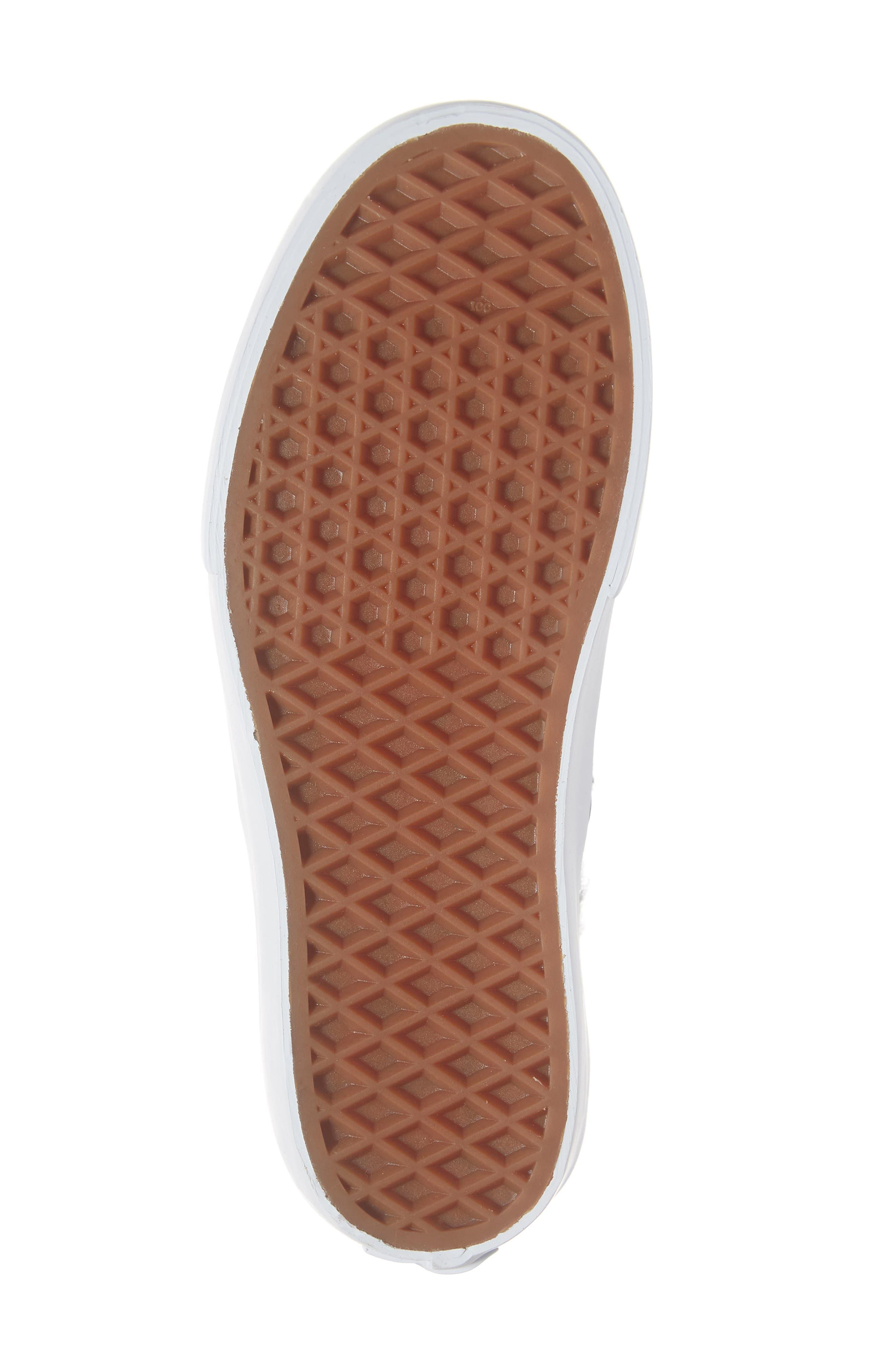VANS,                             'Sk8-Hi Reissue' Sneaker,                             Alternate thumbnail 6, color,                             BLACK/ TRUE WHITE