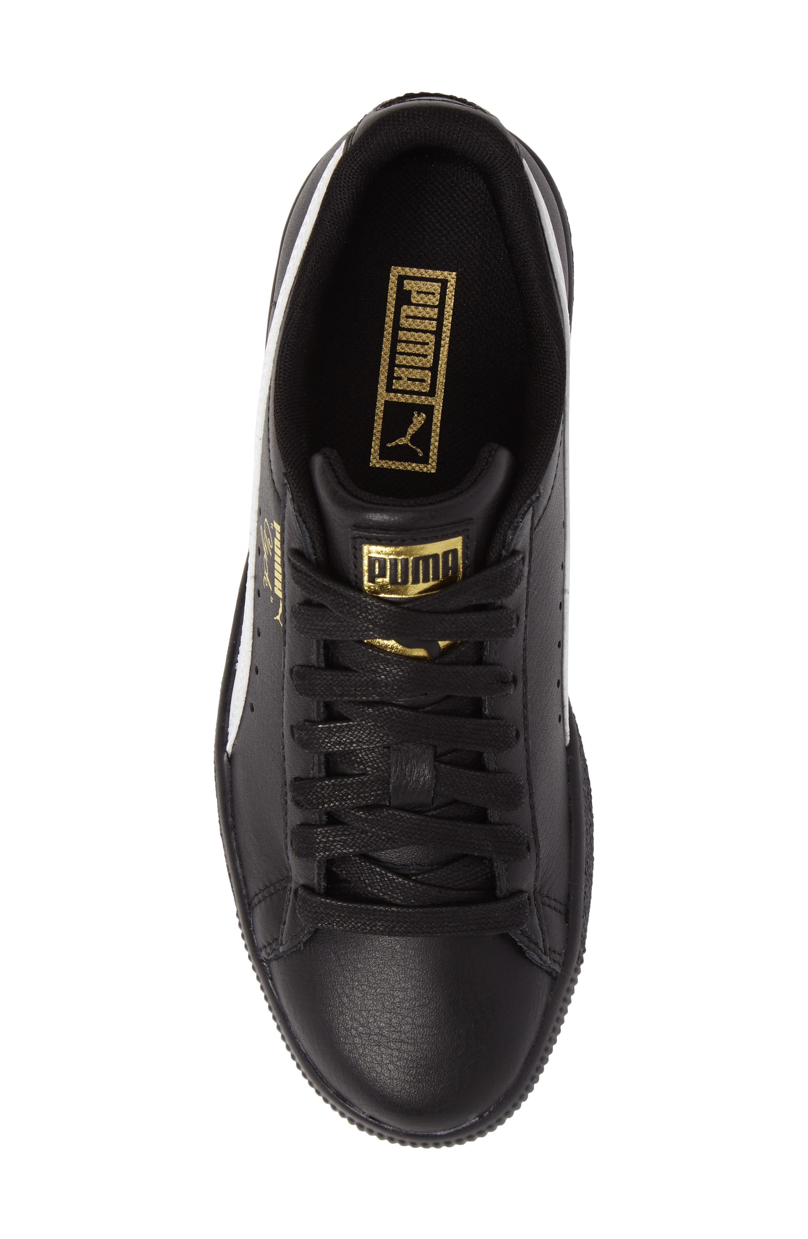 Clyde Core Foil Sneaker,                             Alternate thumbnail 5, color,                             001