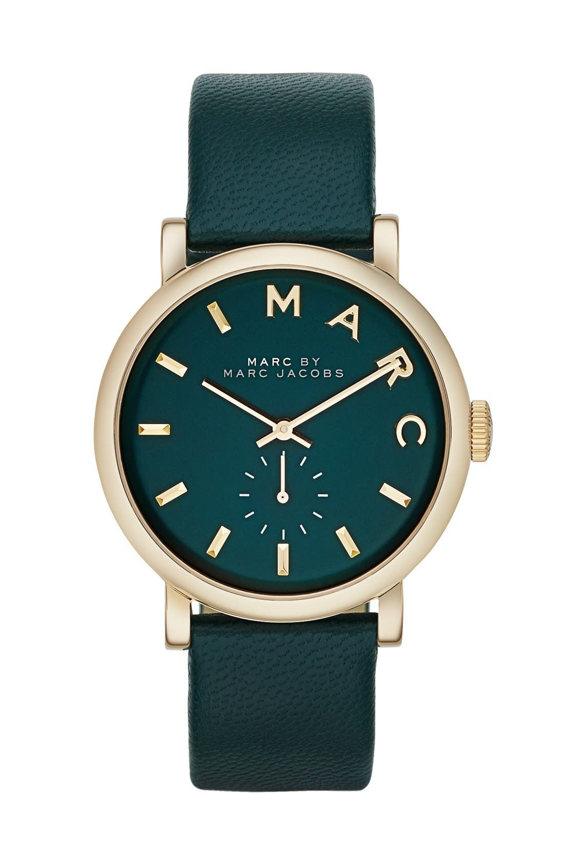 'Baker' Leather Strap Watch, 37mm,                             Main thumbnail 9, color,