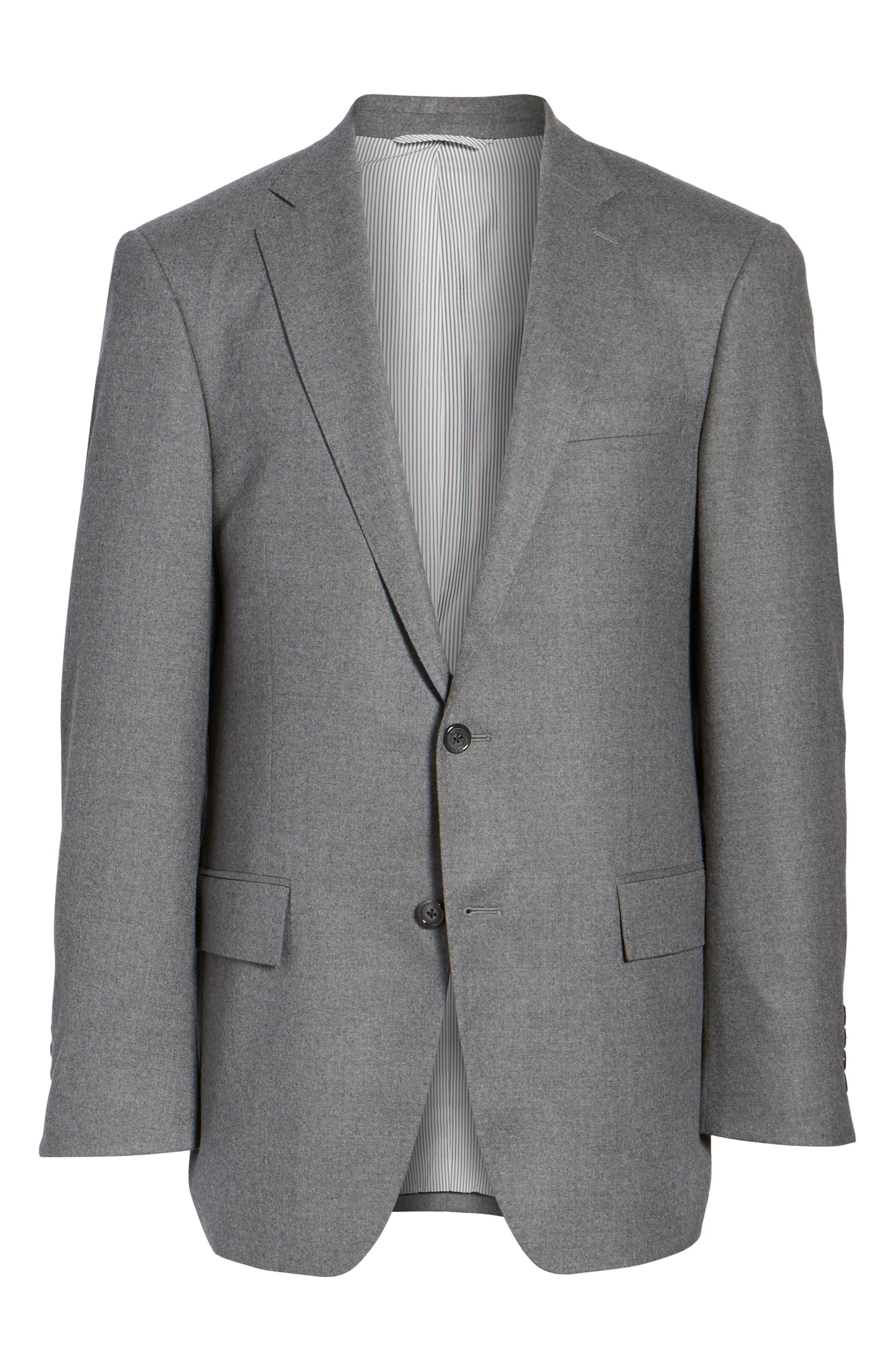 Sutton Trim Fit Stretch Wool Blazer,                             Alternate thumbnail 5, color,                             050