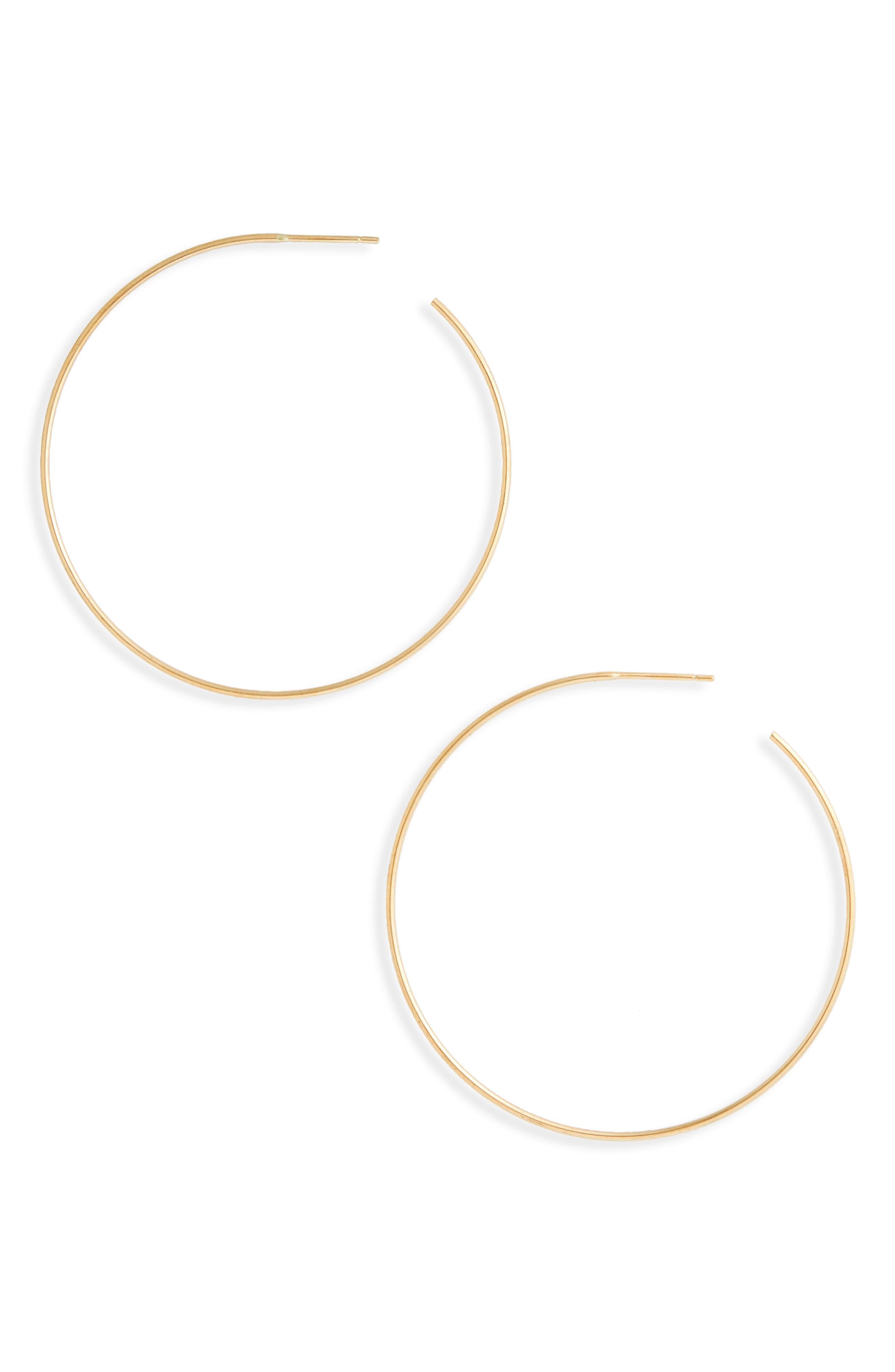 Post Back Hoop Earrings, Main, color, 710