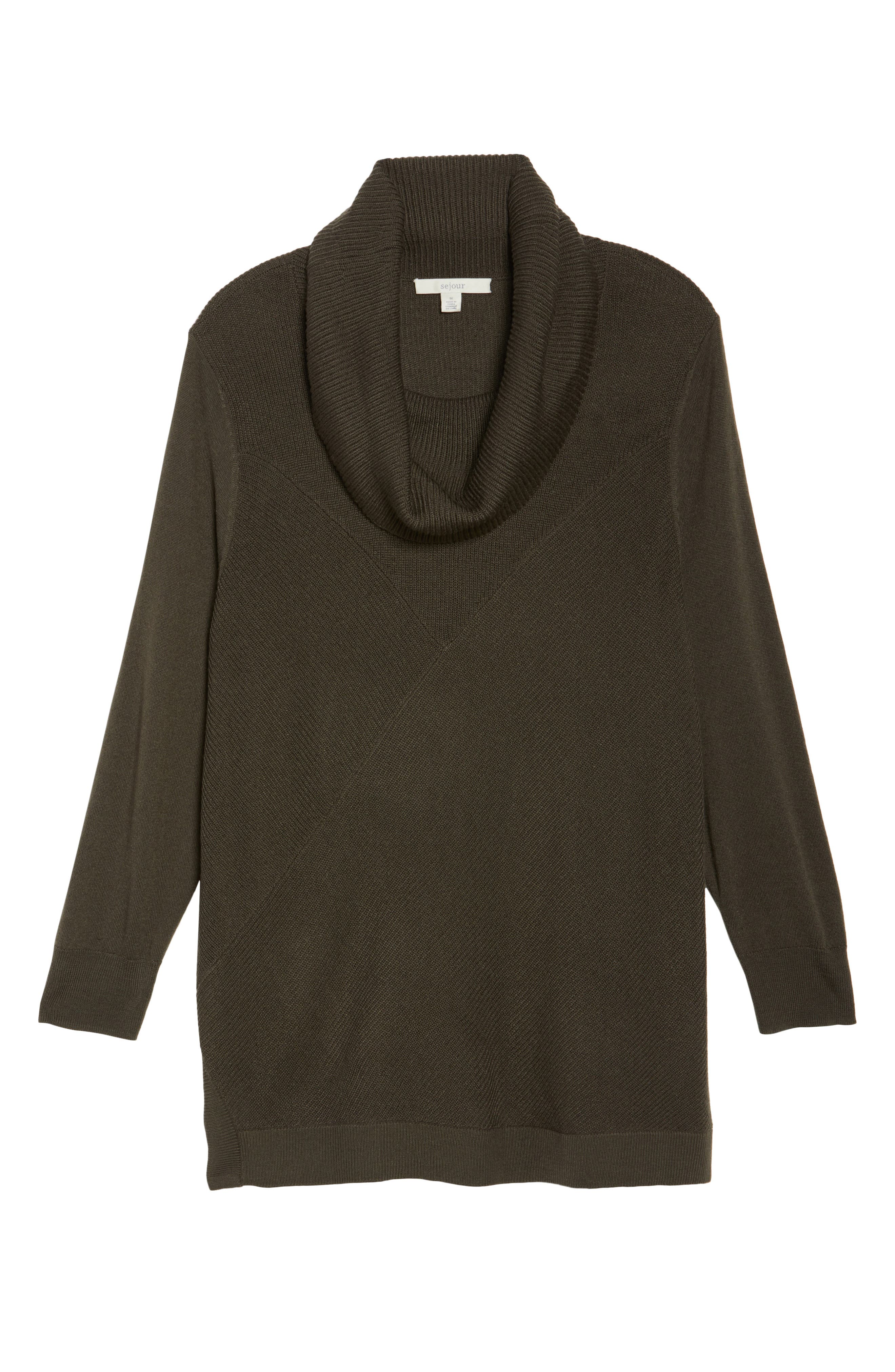 Cowl Neck Ribbed Trim Pullover,                             Alternate thumbnail 33, color,