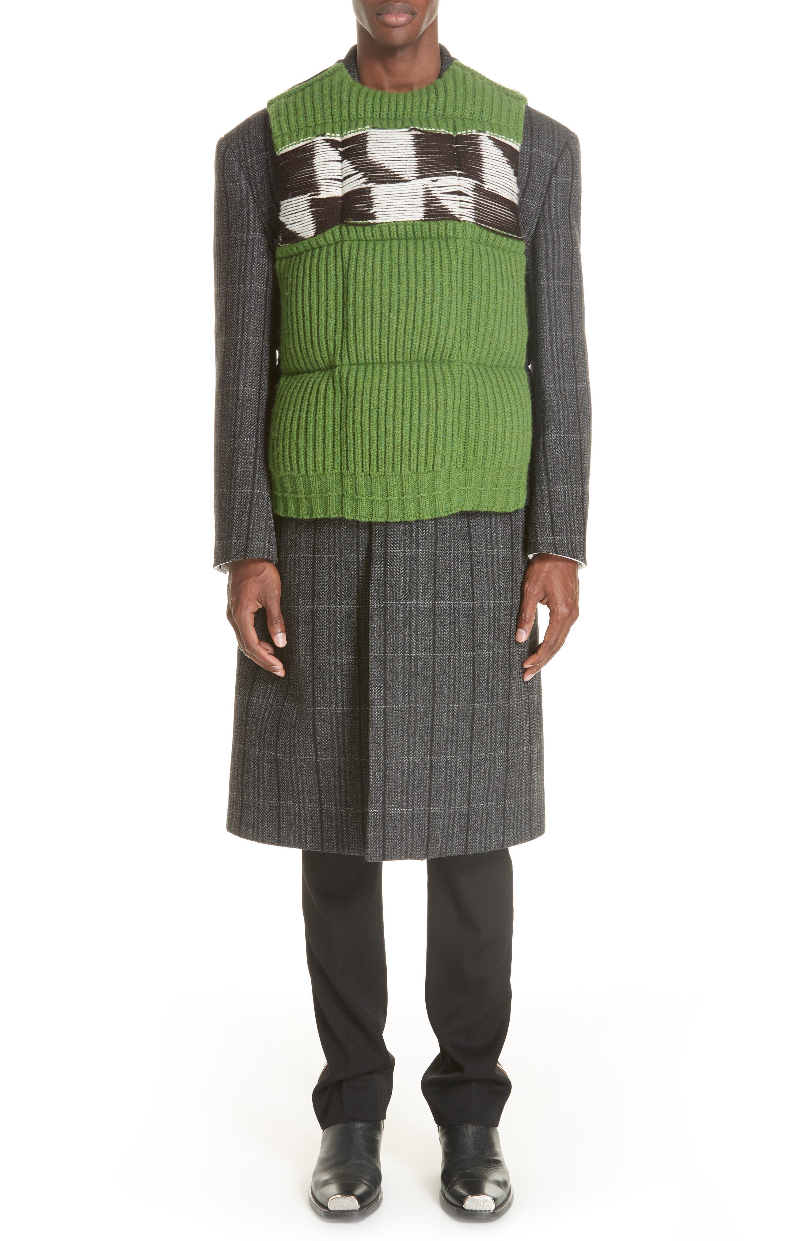 Body Warmer Vest,                             Alternate thumbnail 6, color,                             GREEN FERN