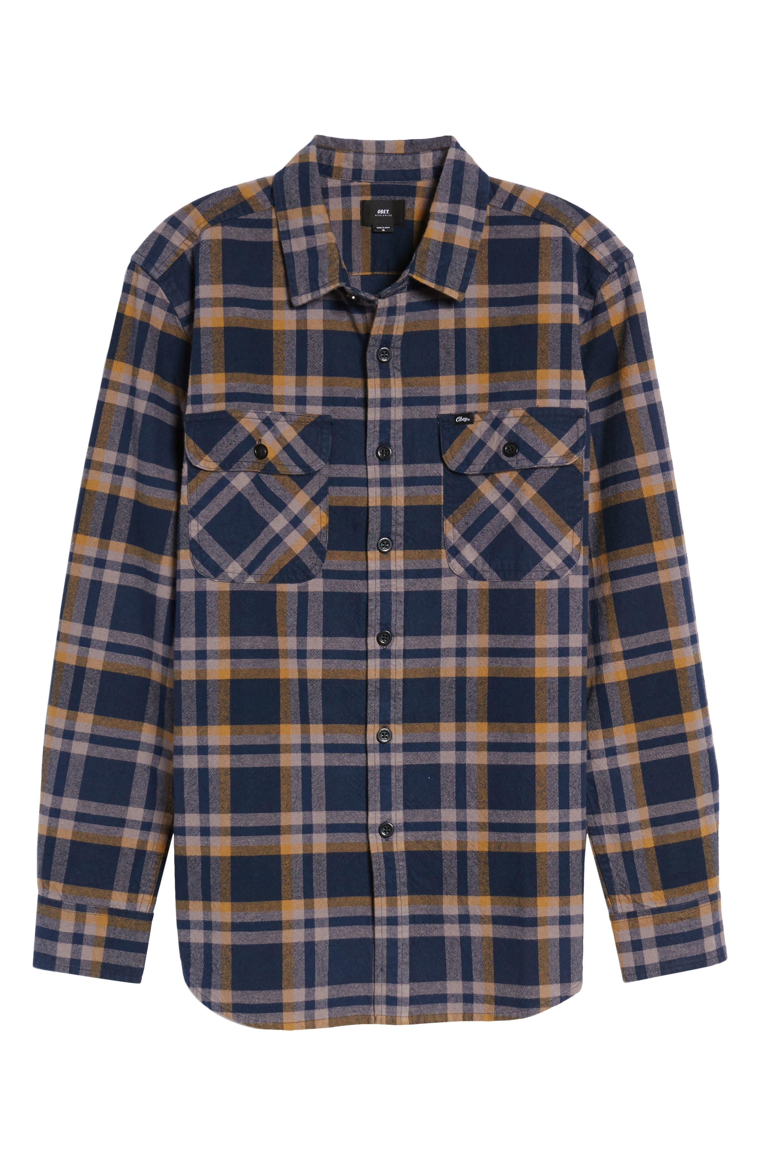 Plaid Flannel Shirt,                             Alternate thumbnail 6, color,
