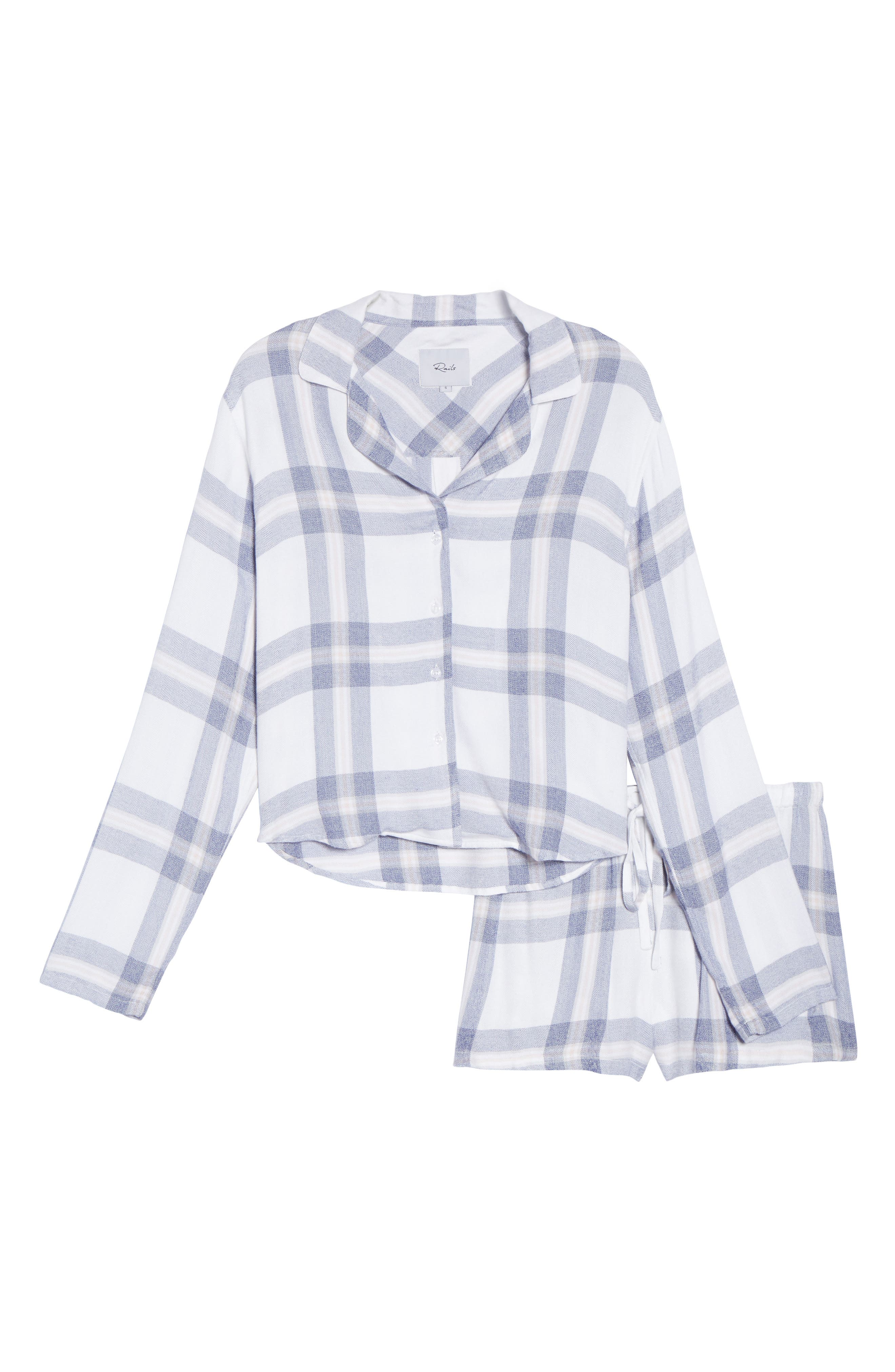 Plaid Short Pajamas,                             Alternate thumbnail 6, color,                             106
