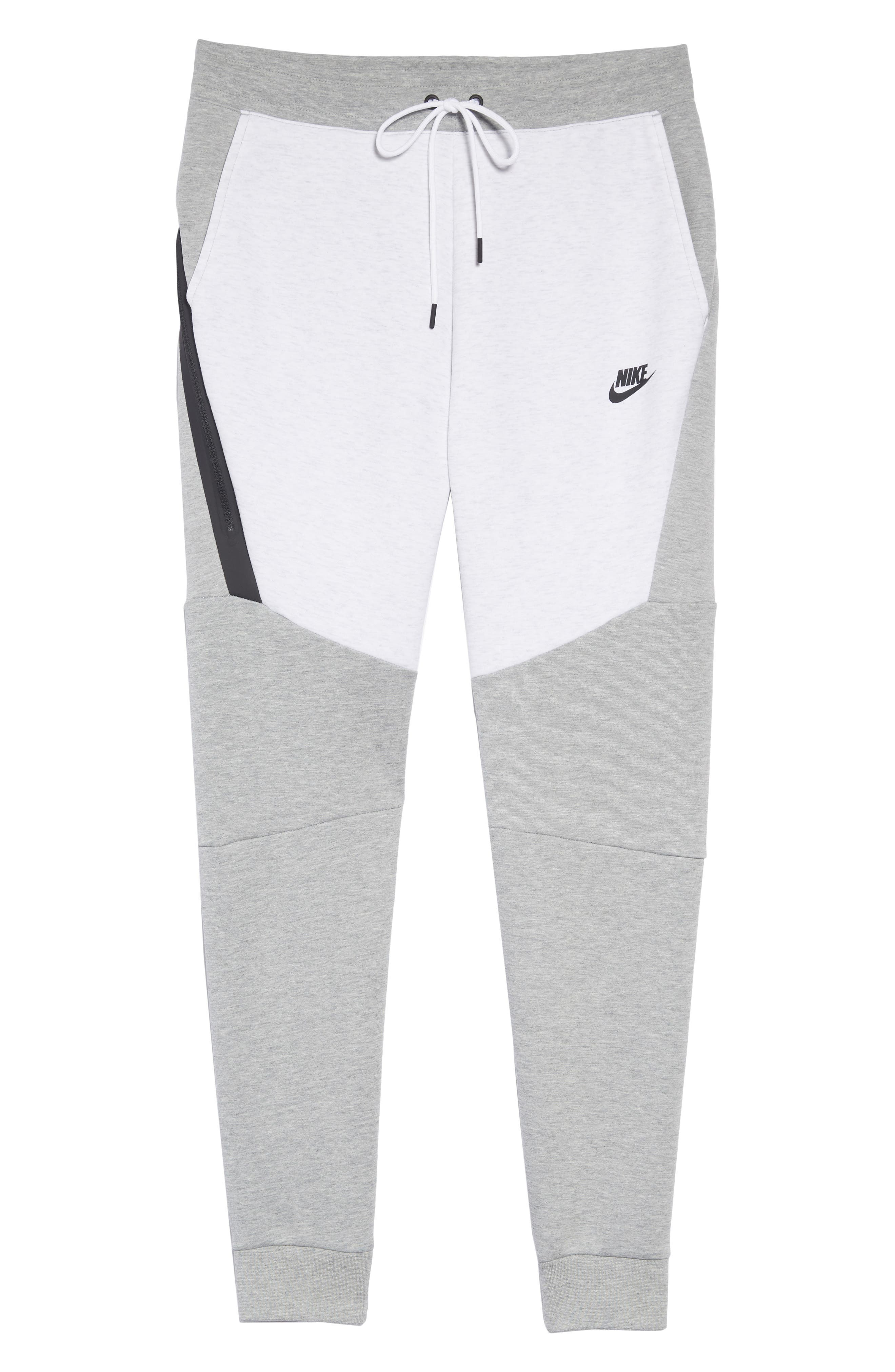 Tech Fleece Jogger Pants,                             Alternate thumbnail 6, color,                             HEATHER/ BIRCH HEATHER/ BLACK