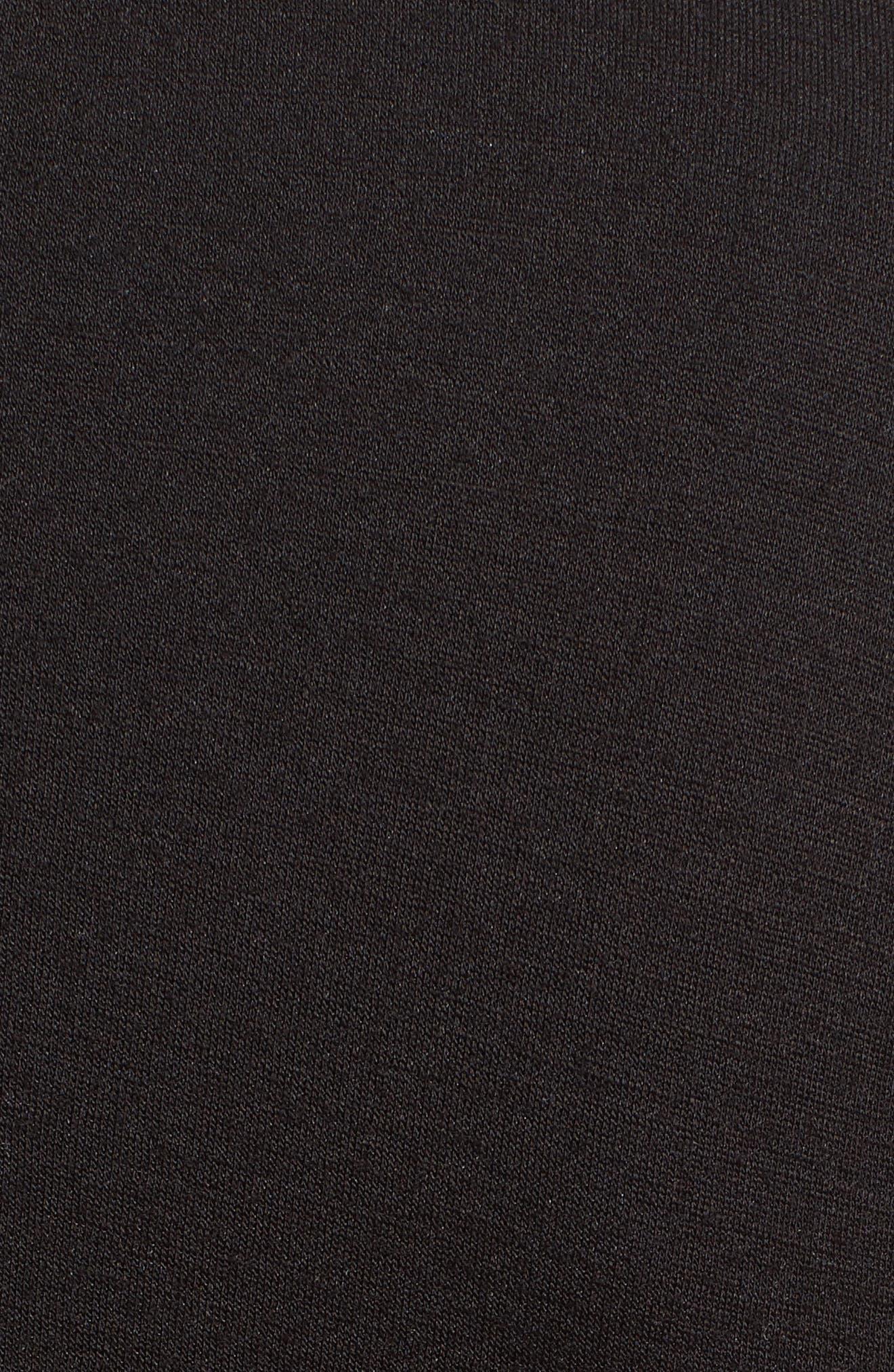 Asymmetrical Fit & Flare Dress,                             Alternate thumbnail 5, color,                             001
