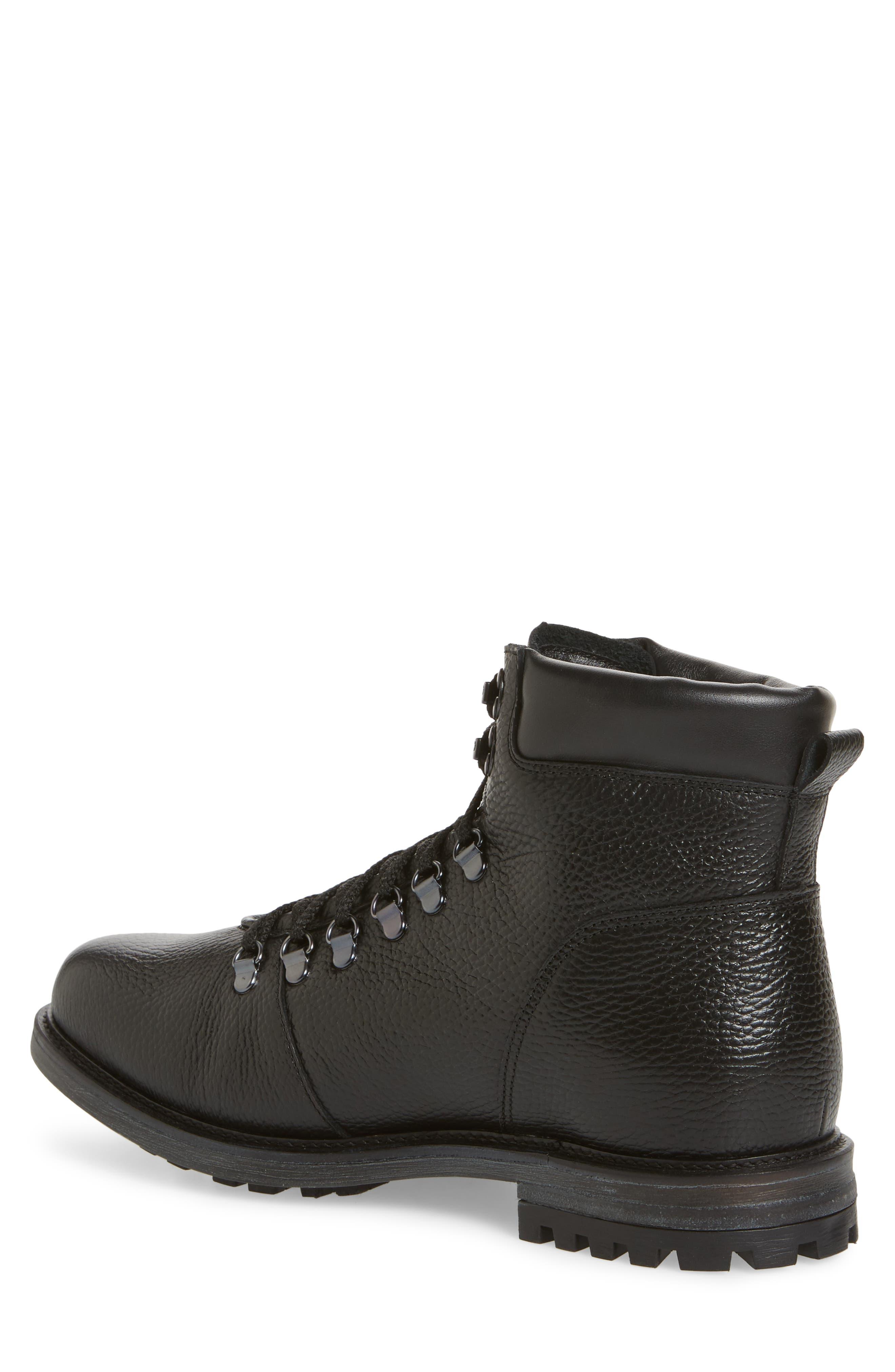 Venice Genuine Shearling Lined Plain Toe Boot,                             Alternate thumbnail 2, color,                             BLACK LEATHER