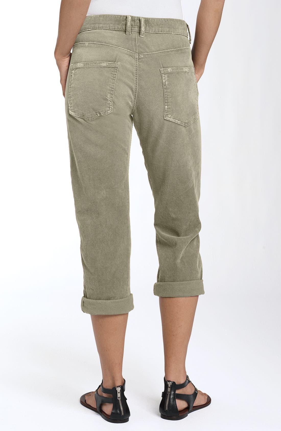 'The Boyfriend' Stretch Corduroy Boyfriend Jeans, Main, color, 074