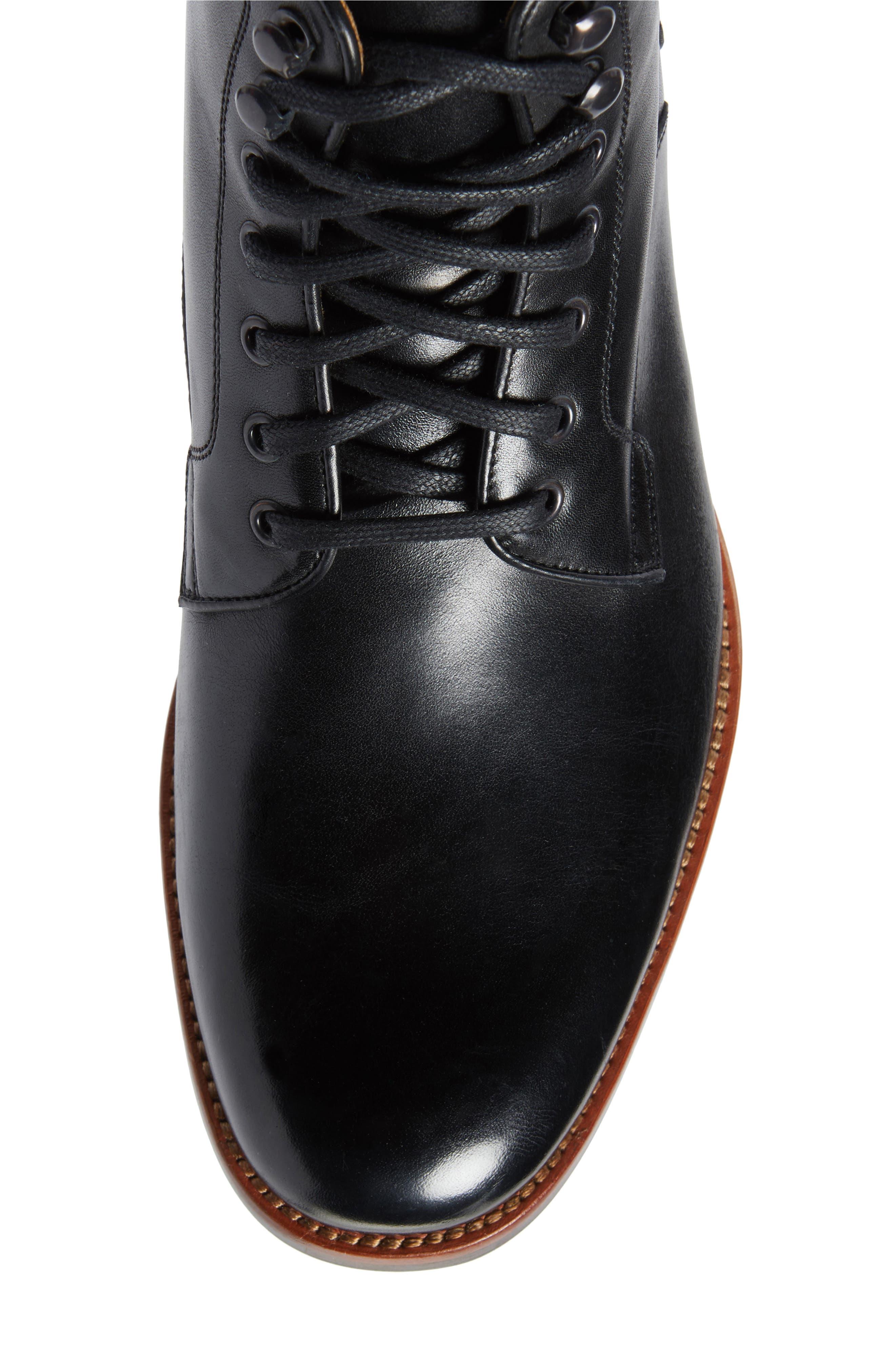Axeford Plain Toe Boot,                             Alternate thumbnail 6, color,                             001