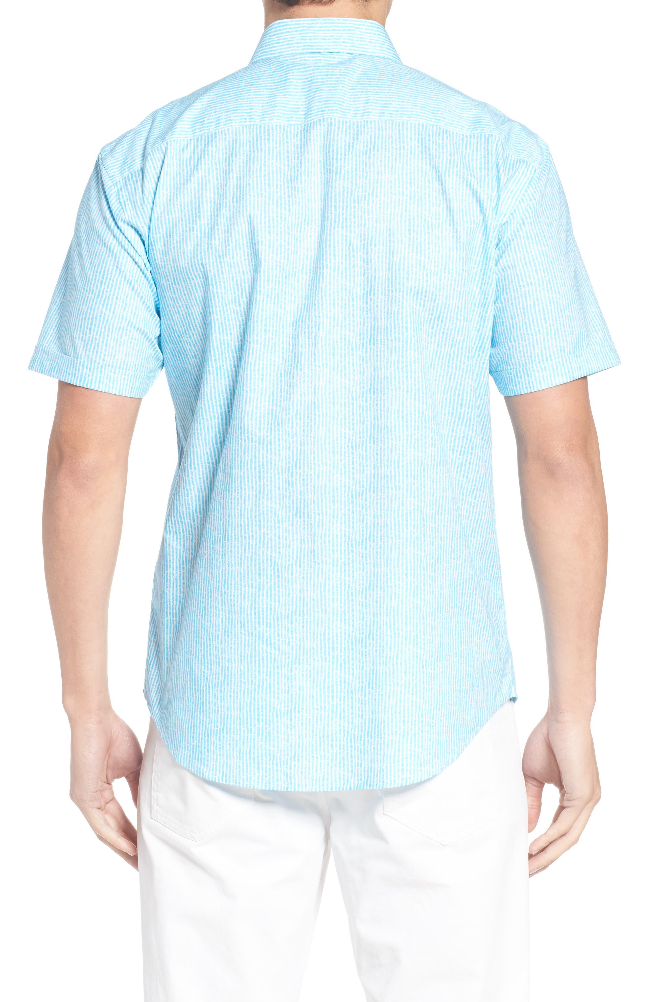 Shaped Fit Stripe Sport Shirt,                             Alternate thumbnail 14, color,