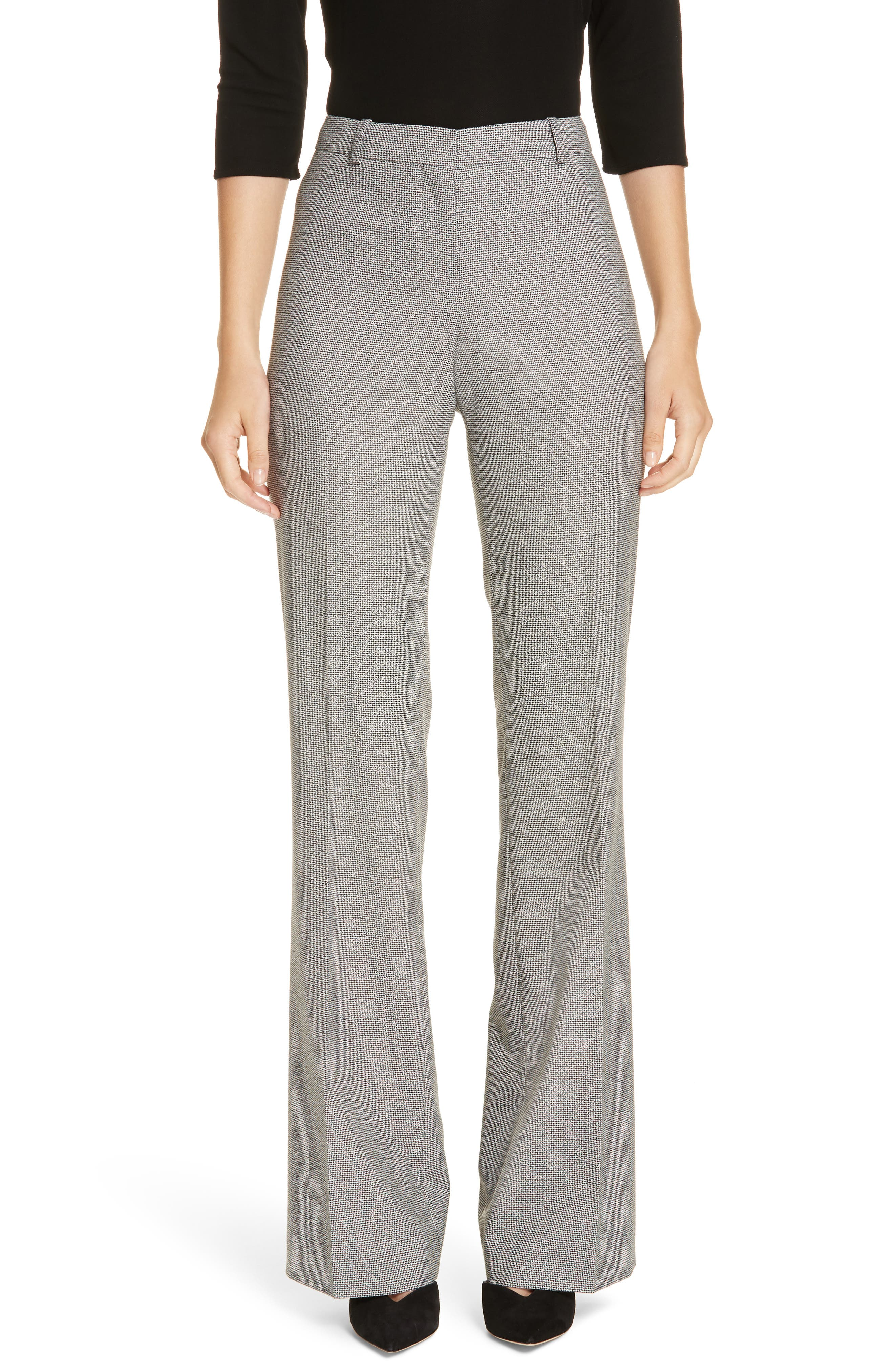 Tulea Blurred Optic Wool Suiting Trousers,                         Main,                         color, BLACK FANTASY