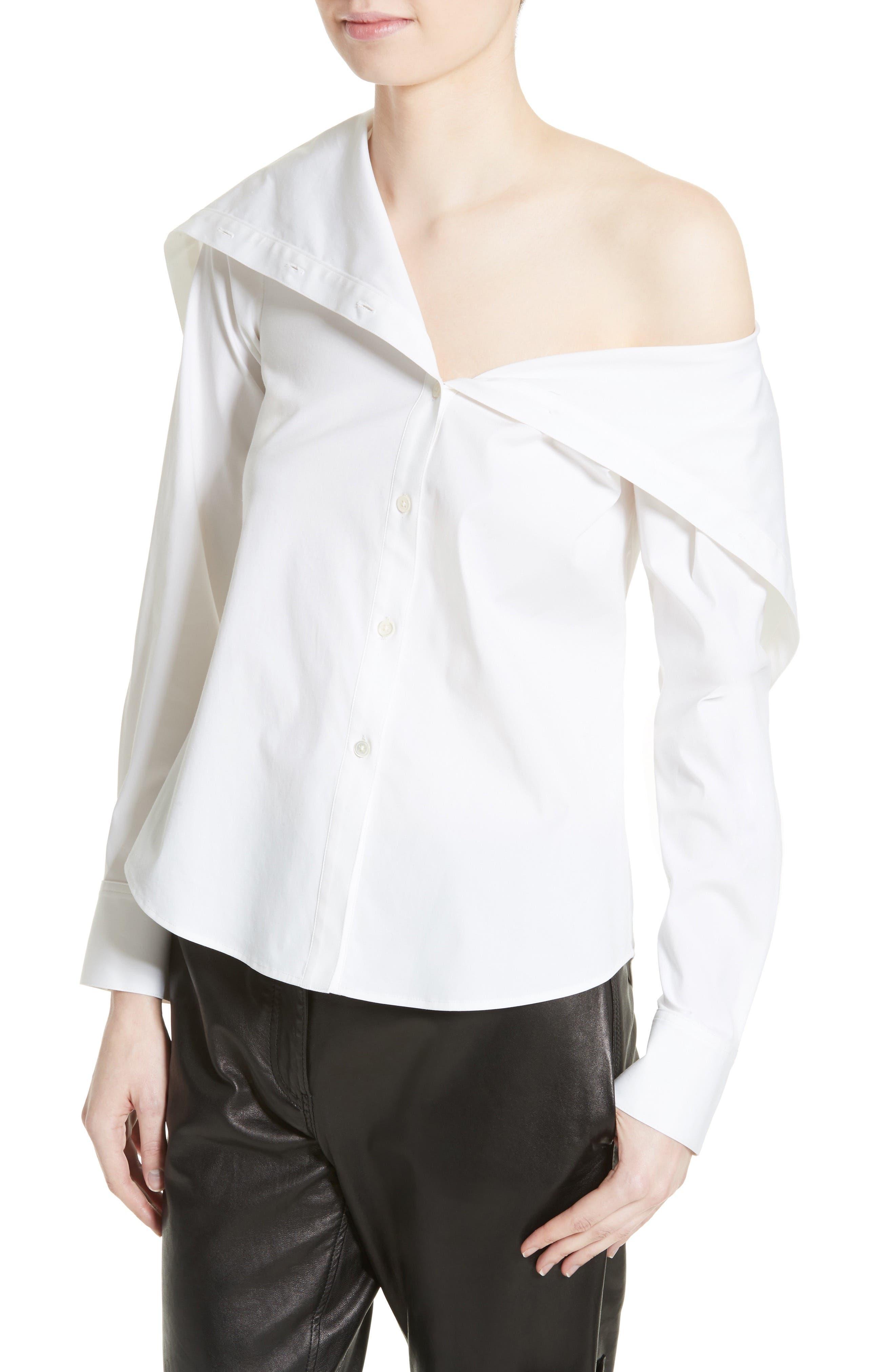 Doherty Stretch Cotton Sailor Shirt,                             Alternate thumbnail 4, color,                             100