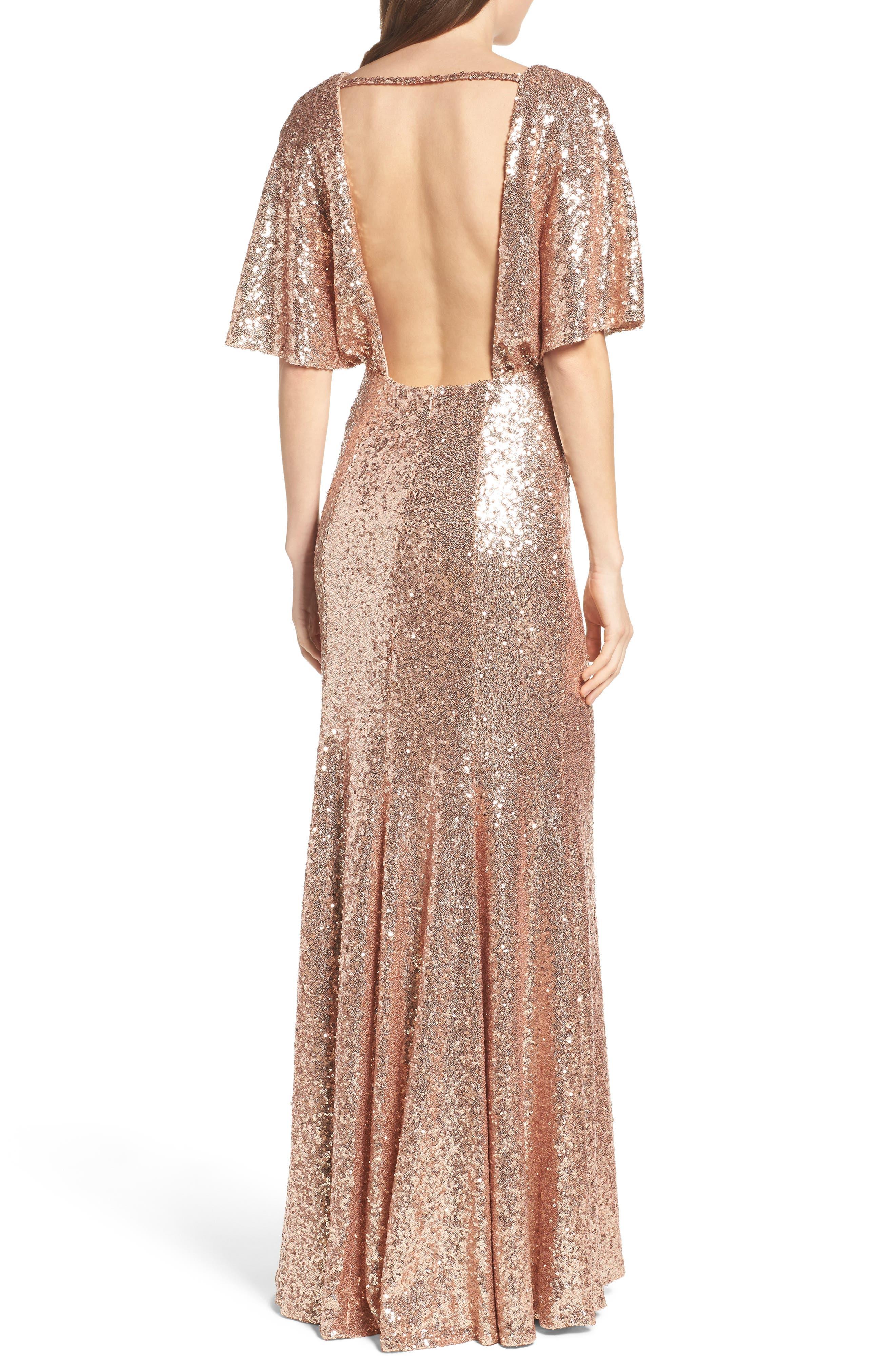 Elson Sequin Blouson Gown,                             Alternate thumbnail 2, color,                             650